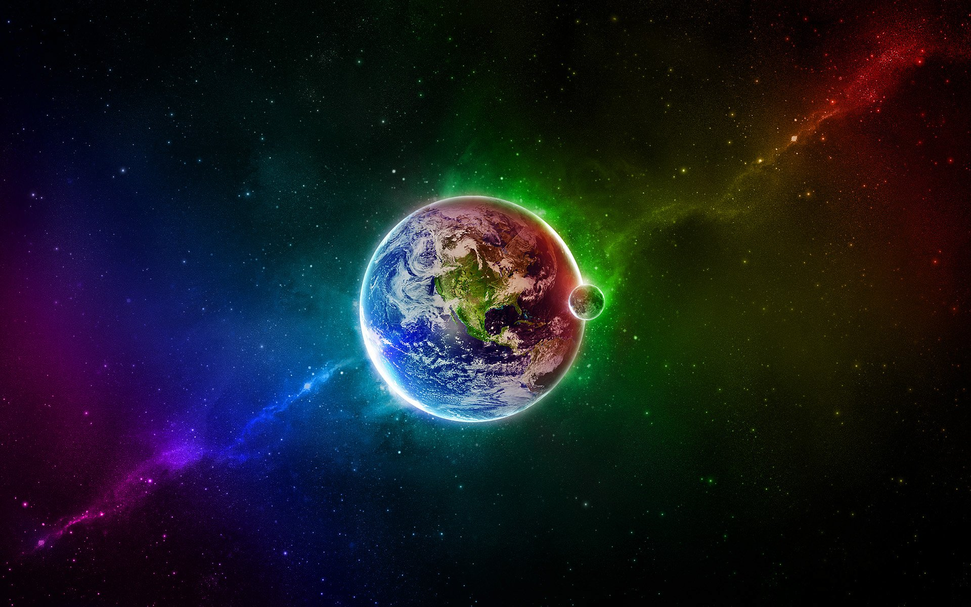 Colourful Earth wallpaper