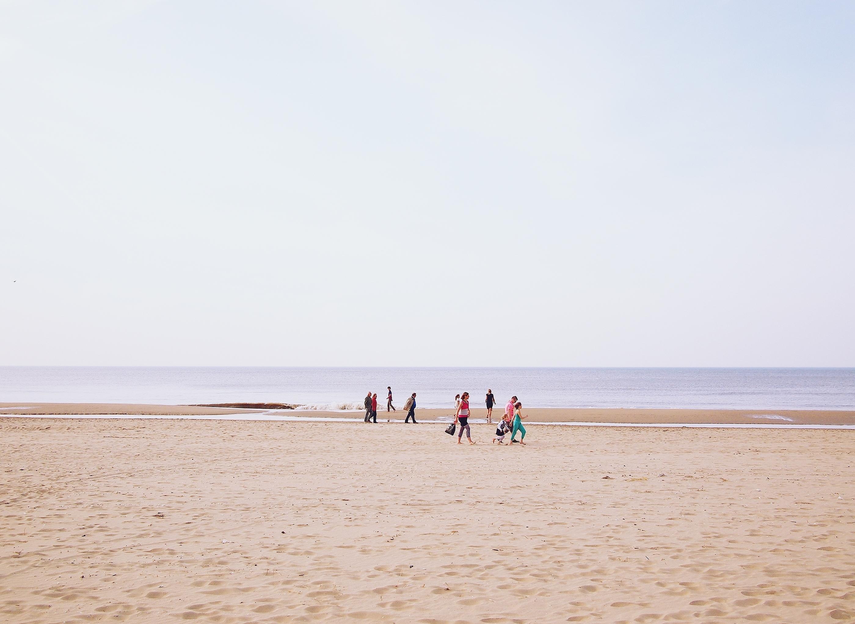 Beach Blue Brown Pink Purple Sand Sea Wallpaper