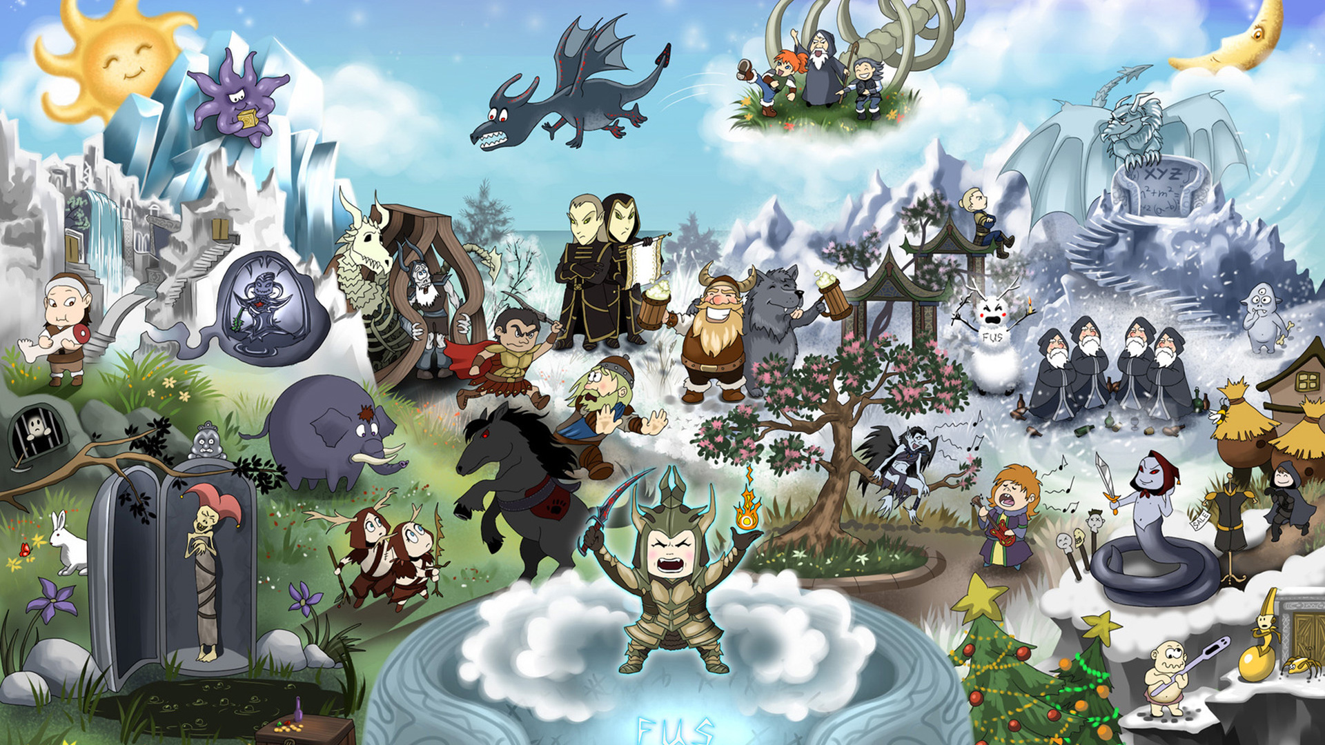 Skyrim Fan Art Hd Wallpaper