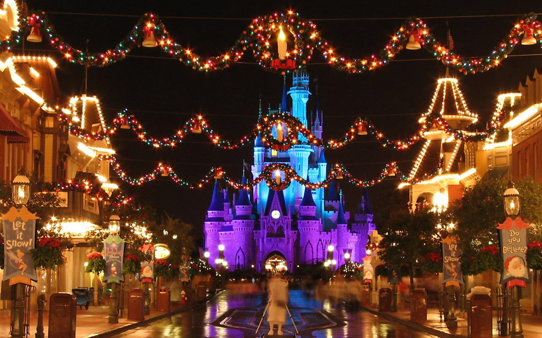 Christmas Disney World Hd Wallpaper