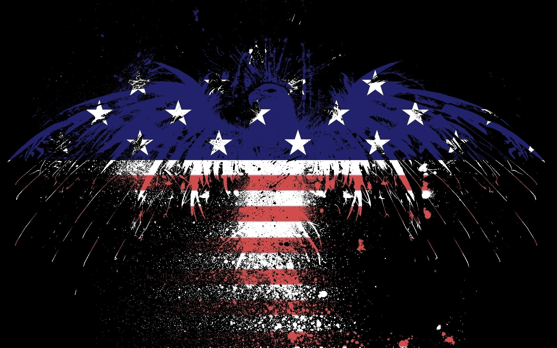 American Eagle Flag Hd Wallpaper