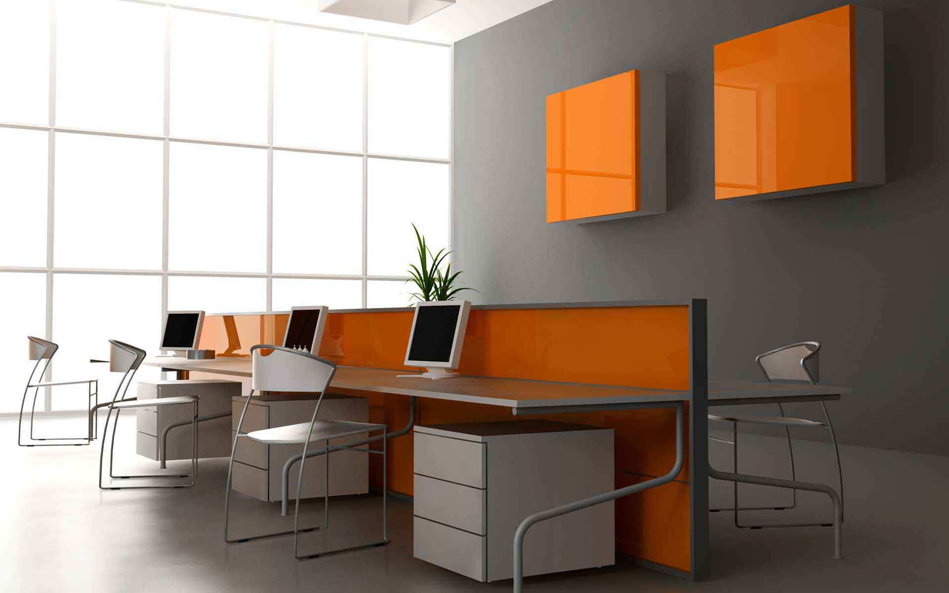 Corporate Computer Office Desk And Chairs Hd Wallpaper