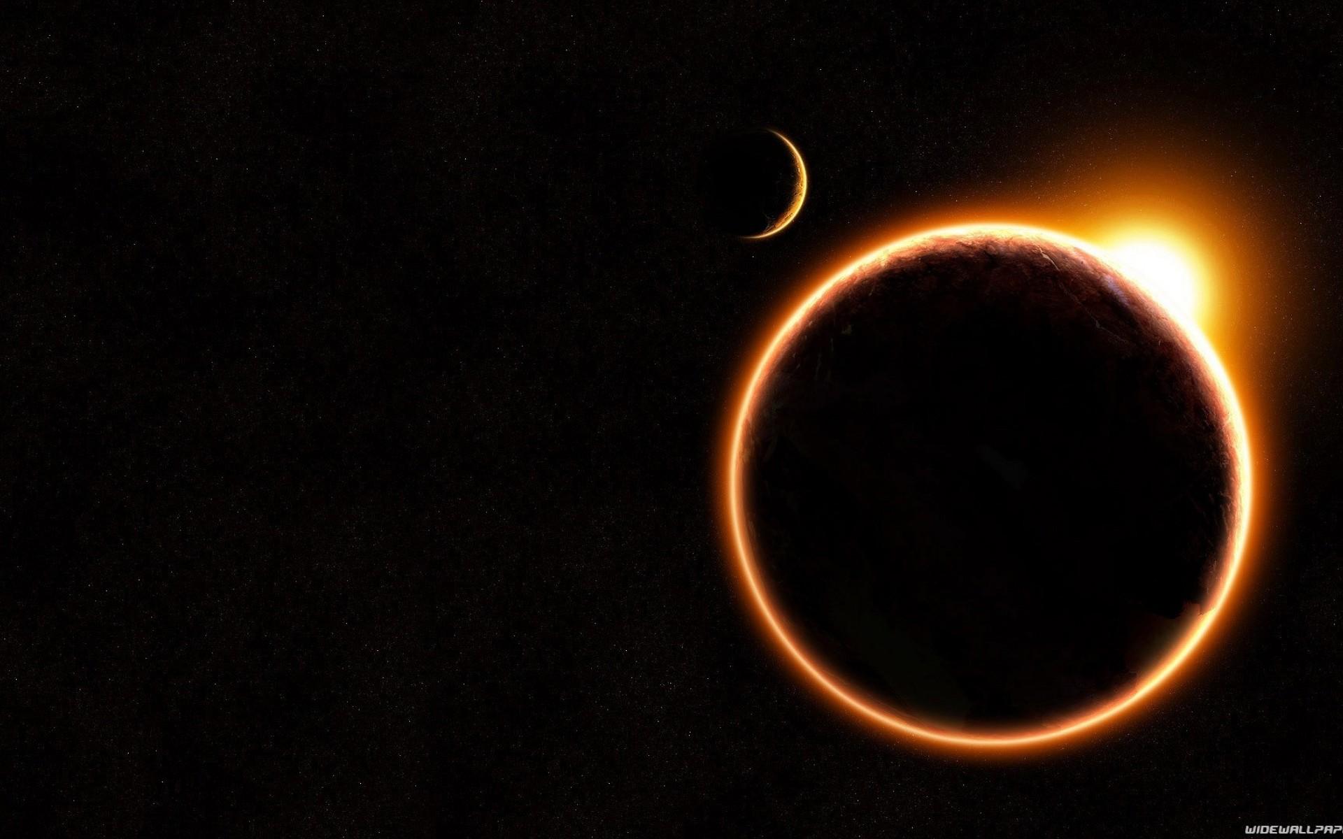 Black Background Sun Space Moon Walls Hd Wallpaper