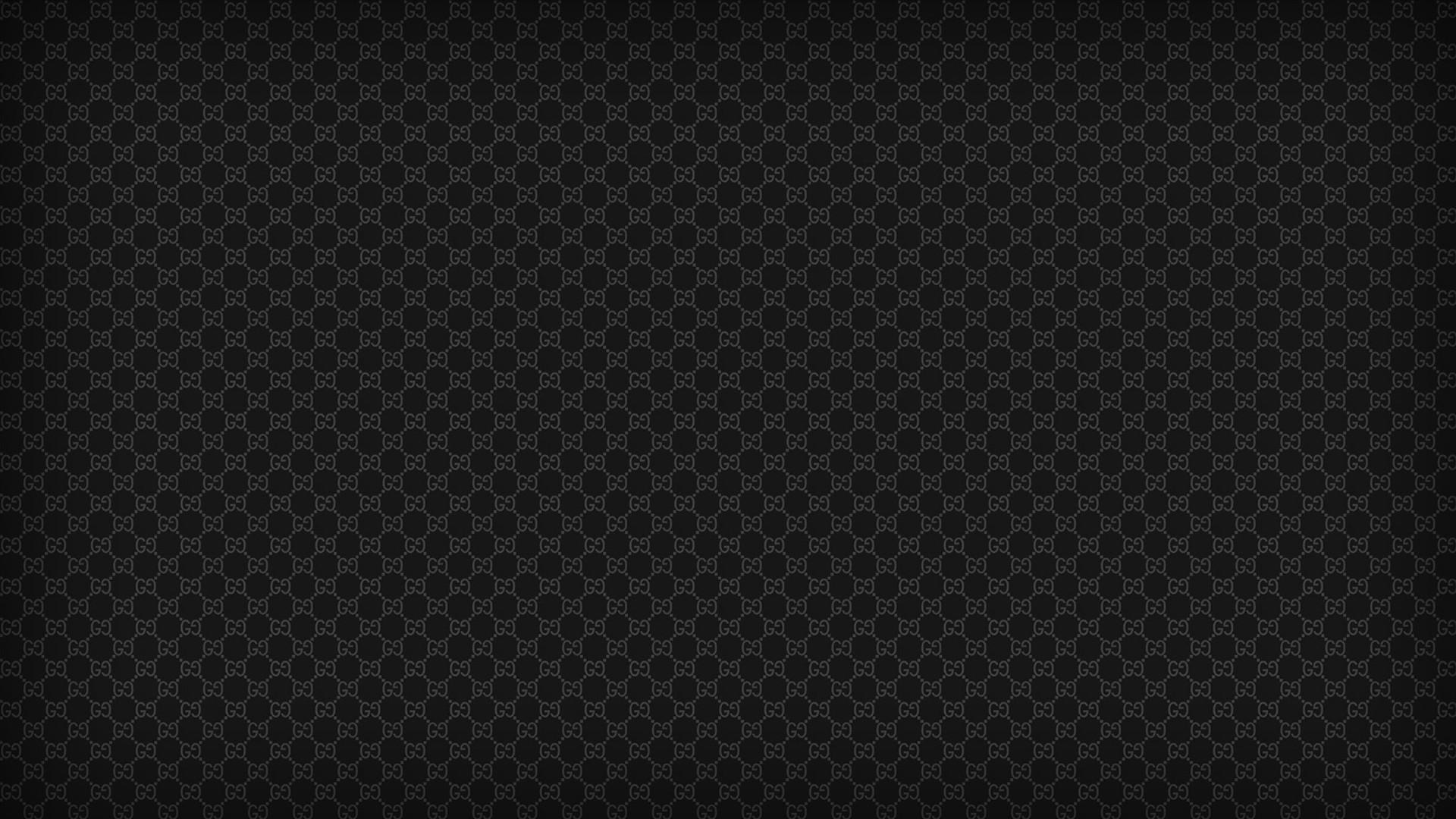Black Patterns Textures Gucci Designer Label Wallpaper