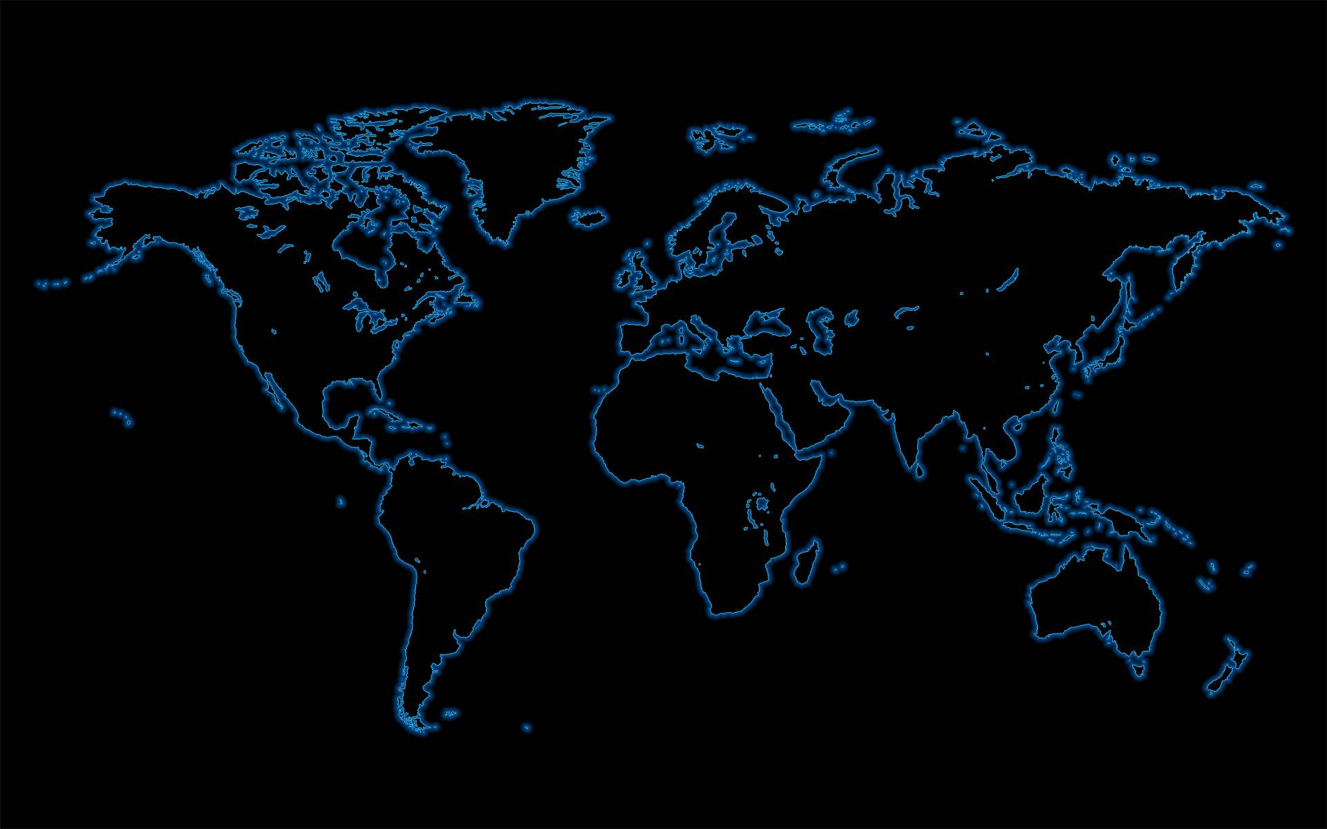 World Map Black And Blue Hd Wallpaper