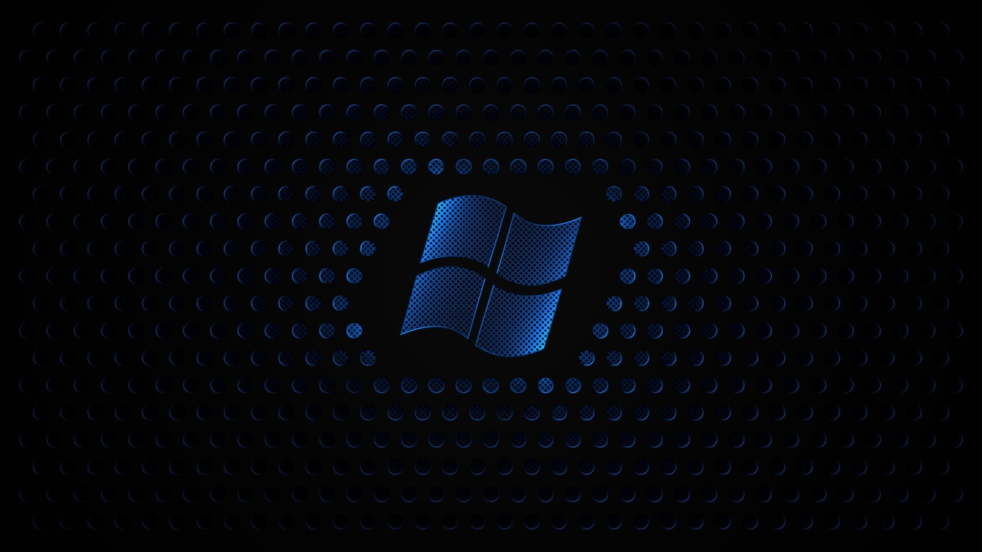 Blue Windows Sign With Black Background Hd S Hd Wallpaper