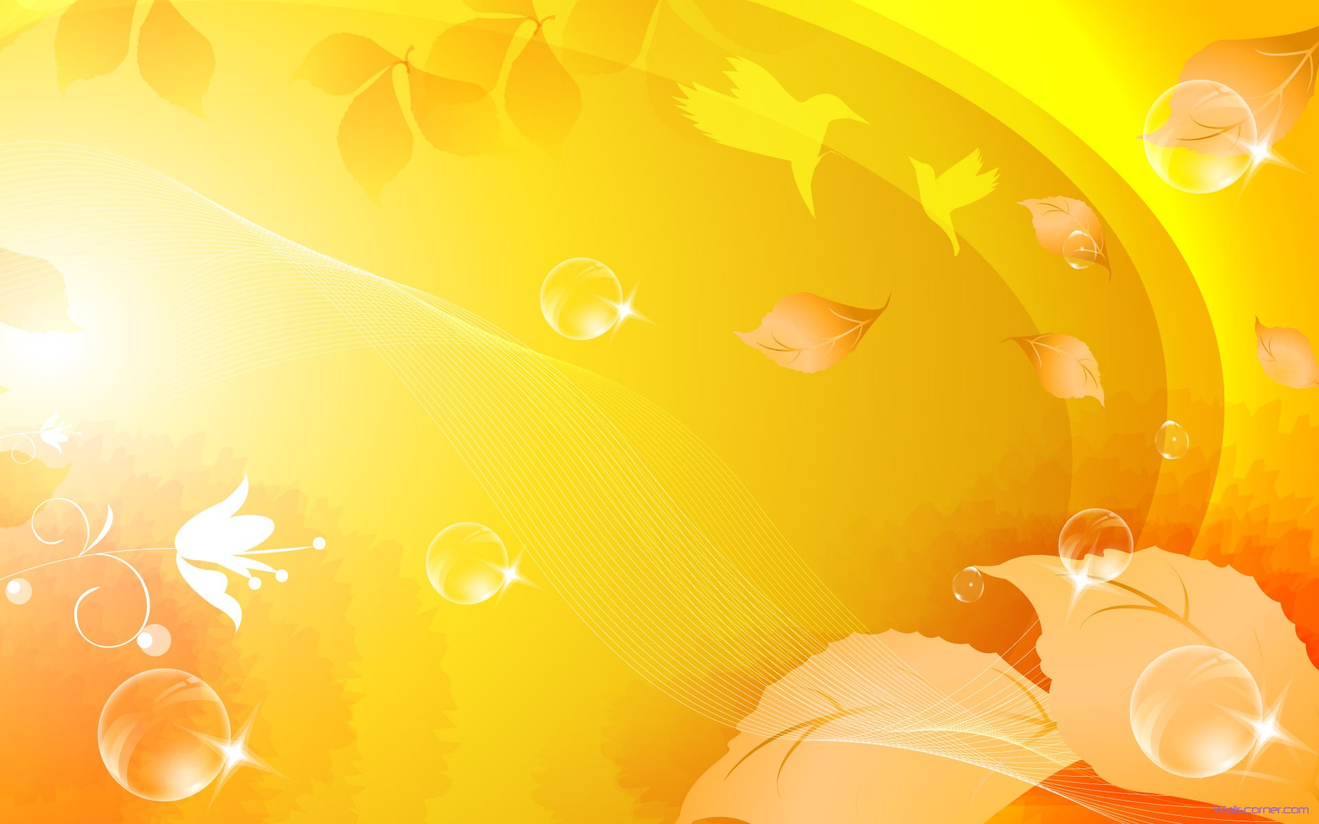 Yellow Color Background Hd Wallpaper