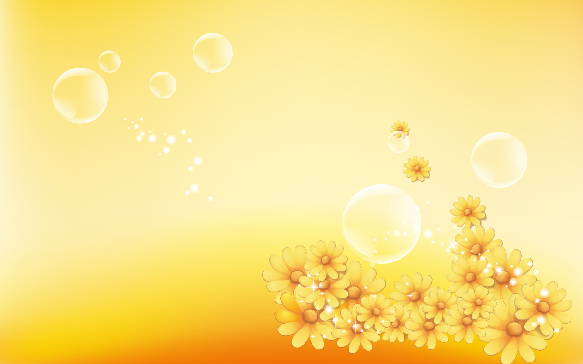 Yellow Flowers Background Hd Wallpaper