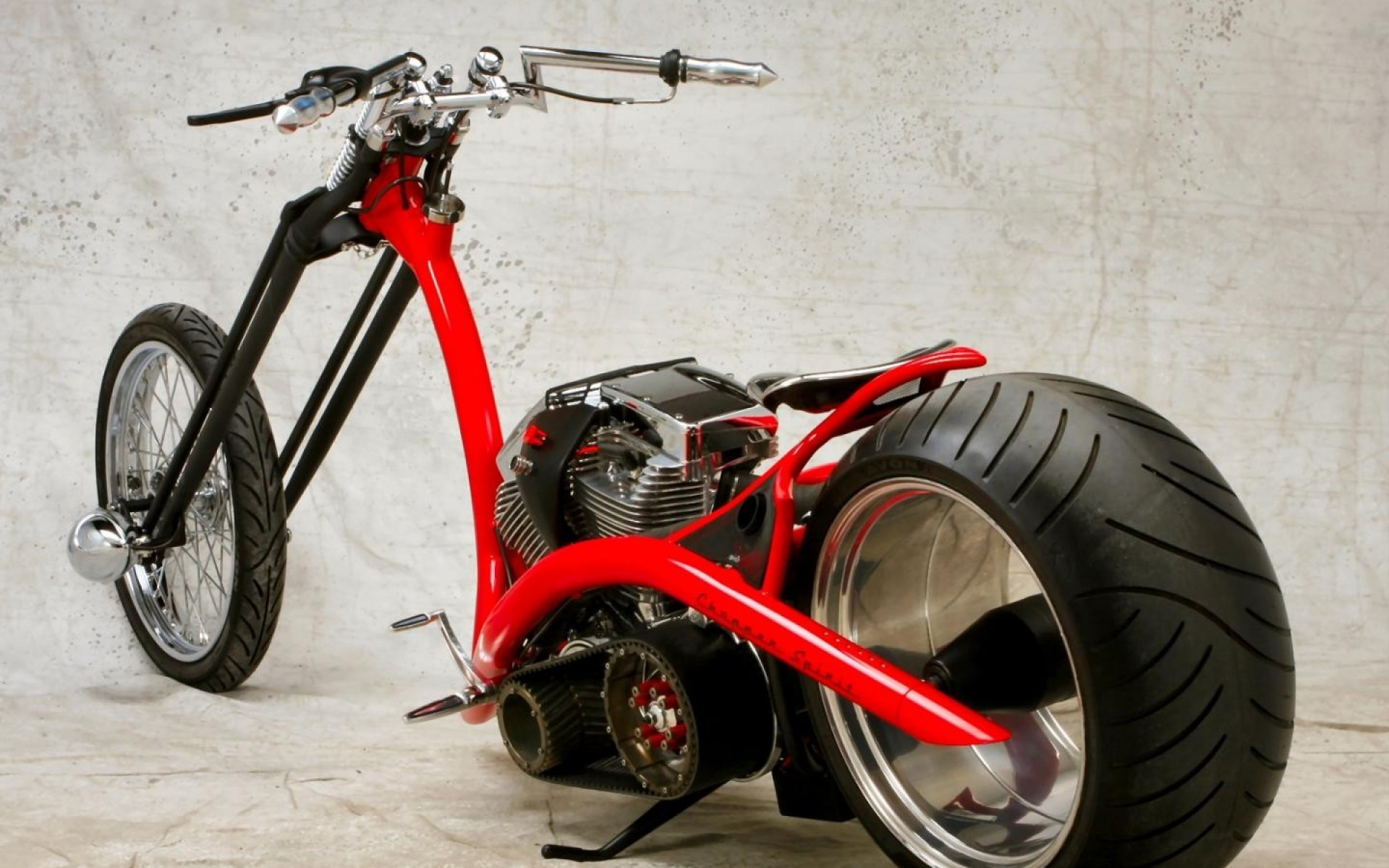 Red Motorbikes Assembled Bikes Choppers wallpaper
