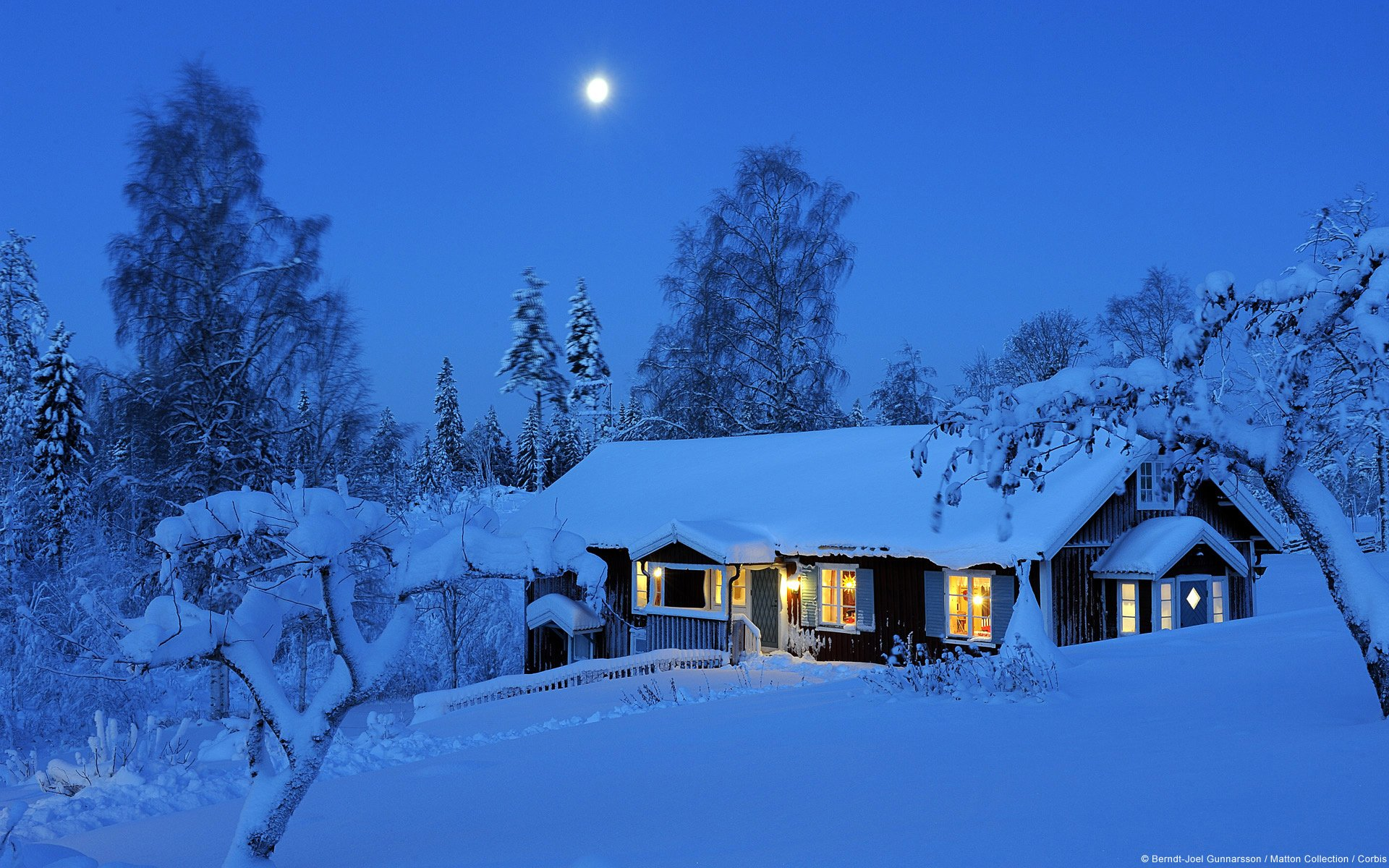 Country House In Winter Hd Wallpaper
