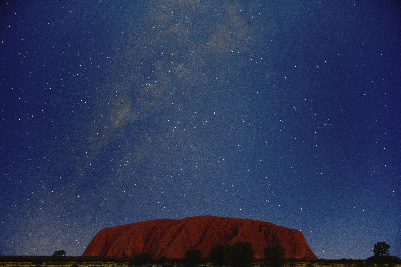 A Oneminutestory Under the Milky Way of Uluru 4K wallpaper