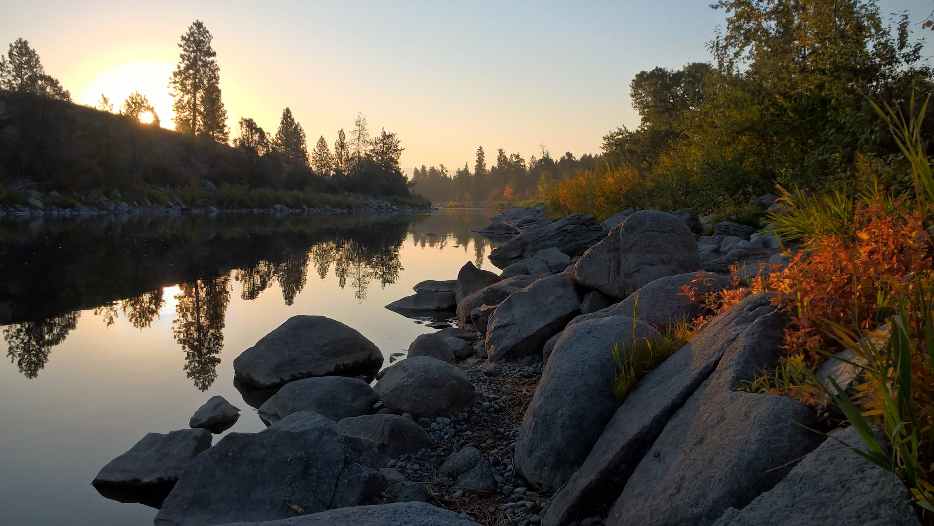 Spokane River With Lumia 640 Hd Wallpaper