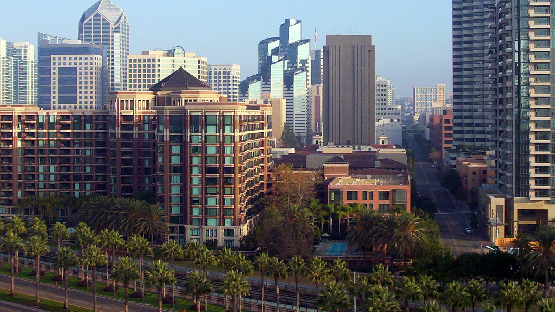 Downtown in San Diego City HD wallpaper