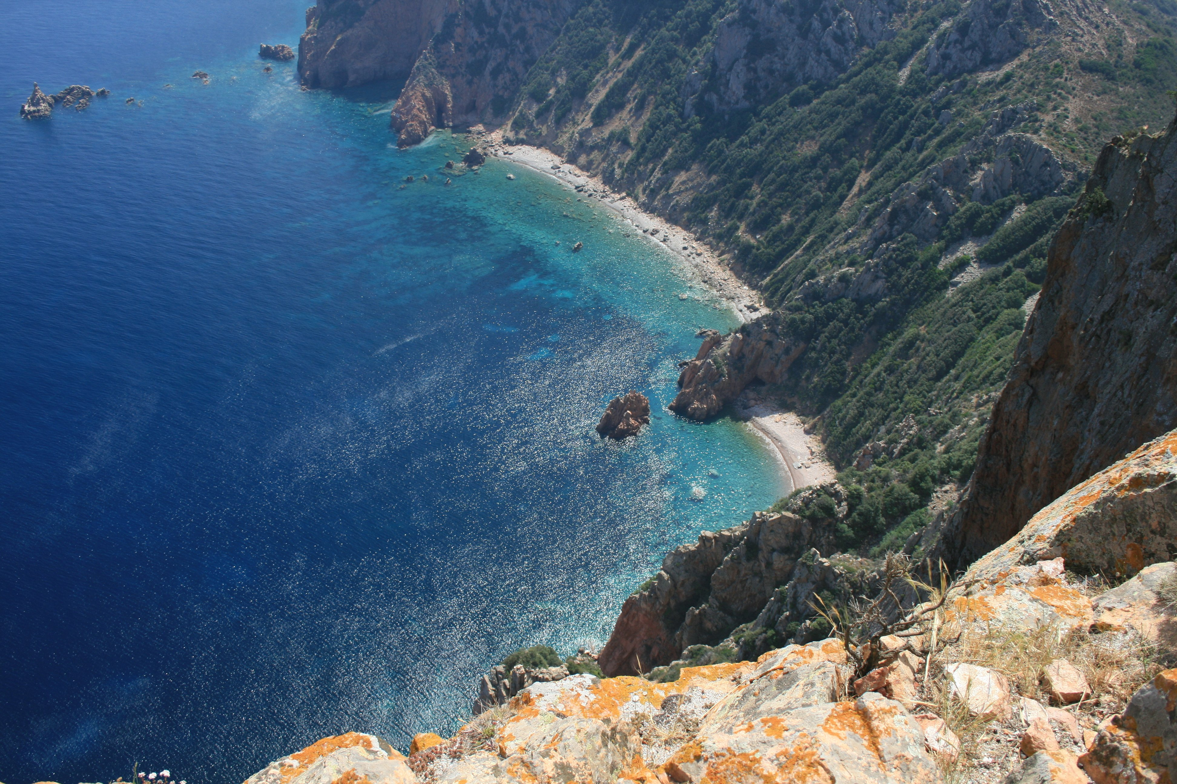 4k Nature Wallpaper Winter France: View From Capo Rosso Corse France 4K Wallpaper
