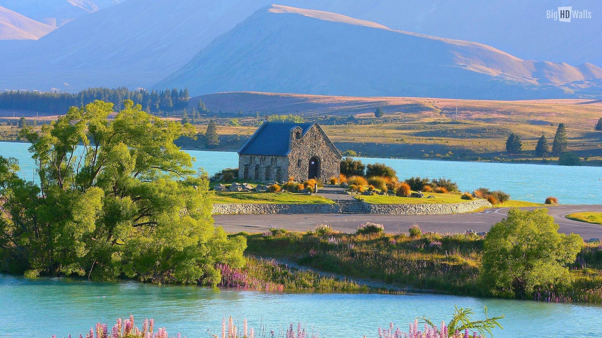Lush View Of Lake Tekapo In New Zealand Hd Wallpaper
