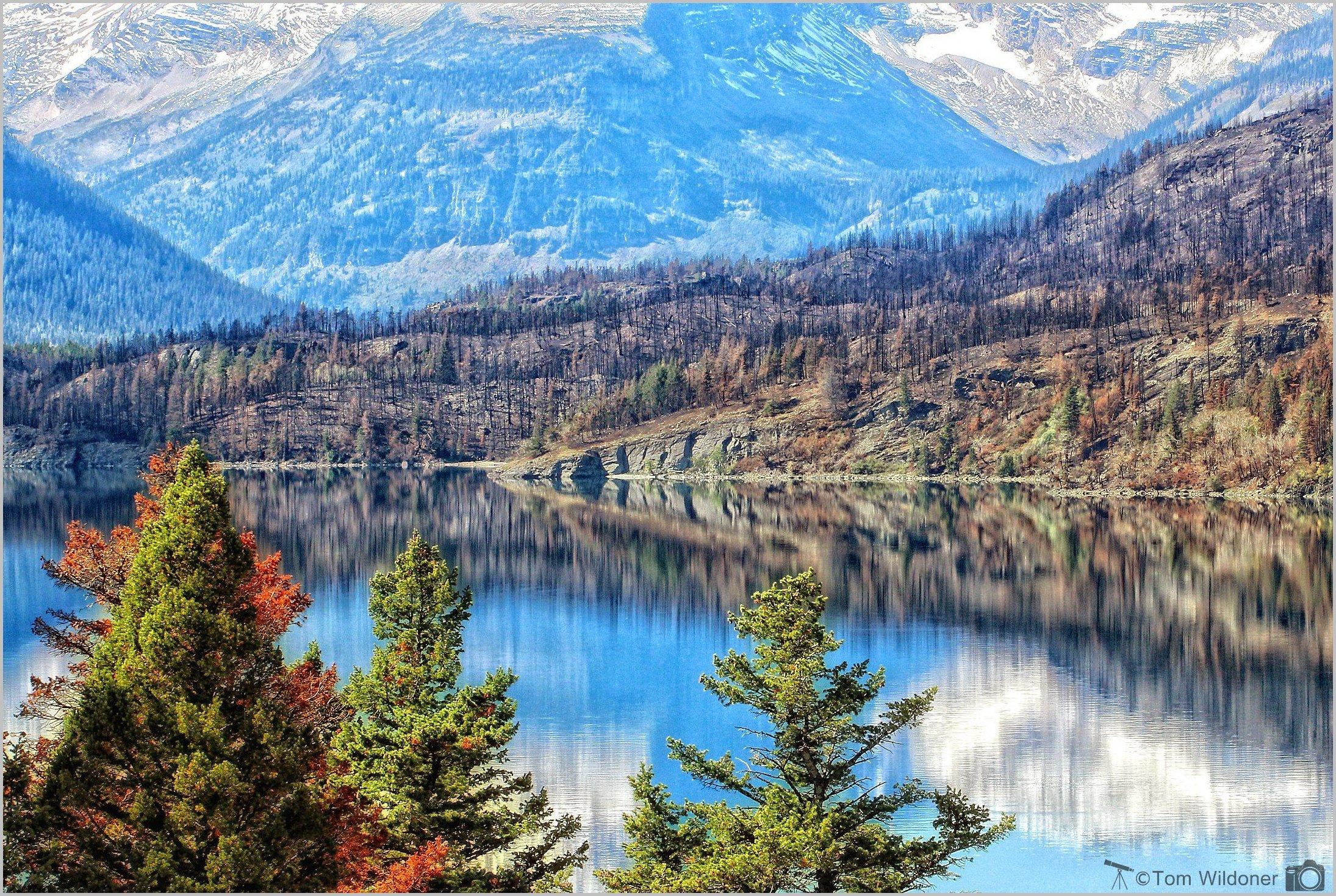 A view along lake josephine in glacier national park - Glacier national park wallpaper ...