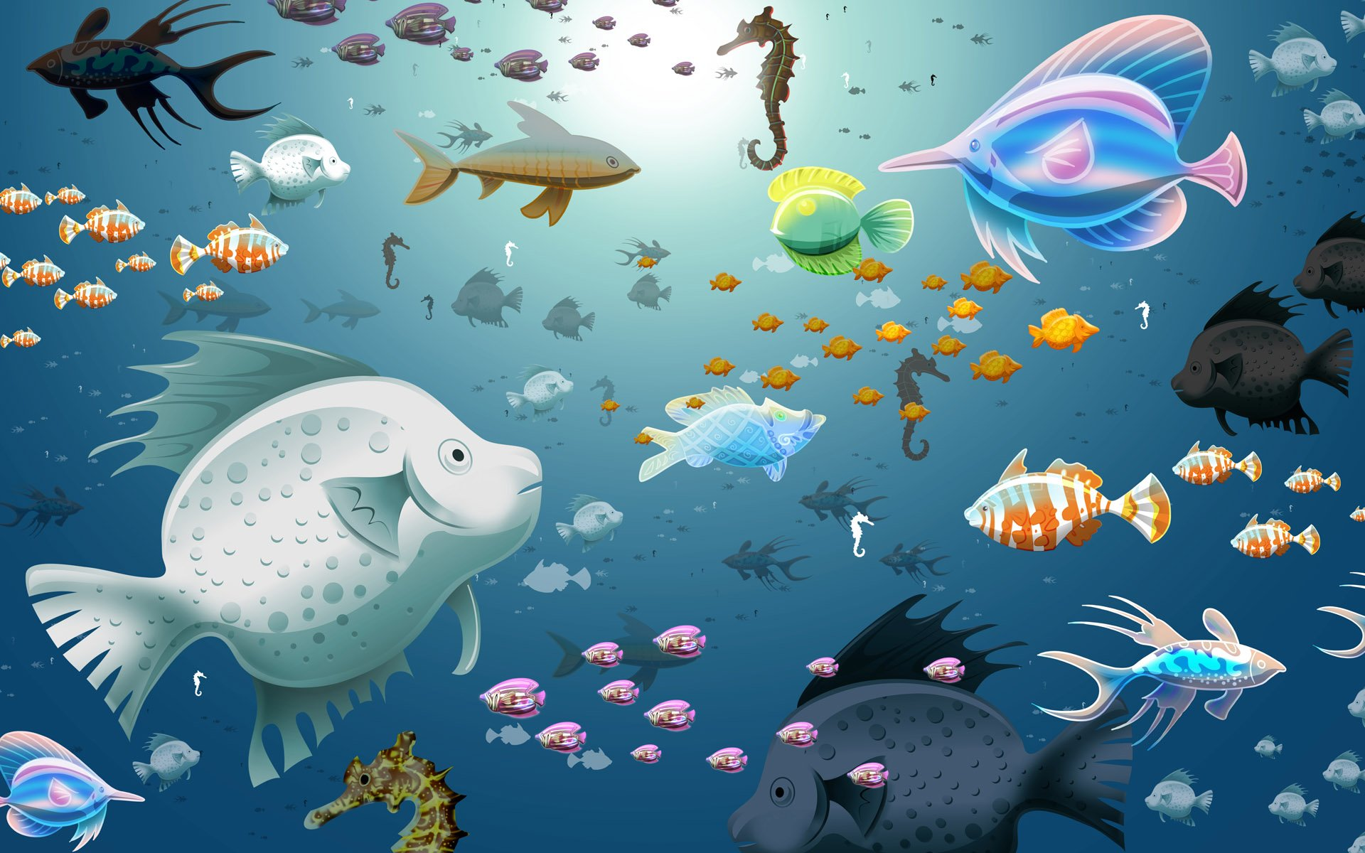 Animated Aquarium Fish HD Wallpaper