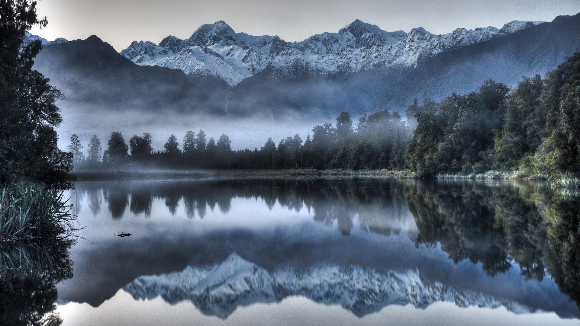 Reflections On Lake Matheson New Zealand Hd Wallpaper