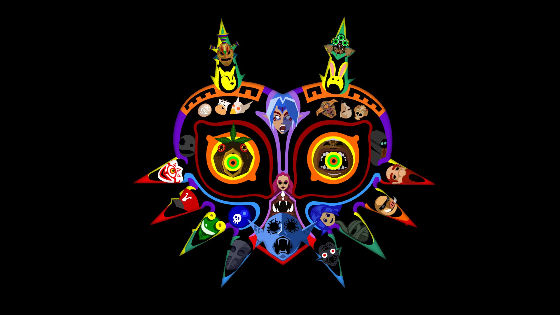 Majora S Mask Desktop Background: Mask Wallpapers, Photos And Desktop Backgrounds Up To 8K