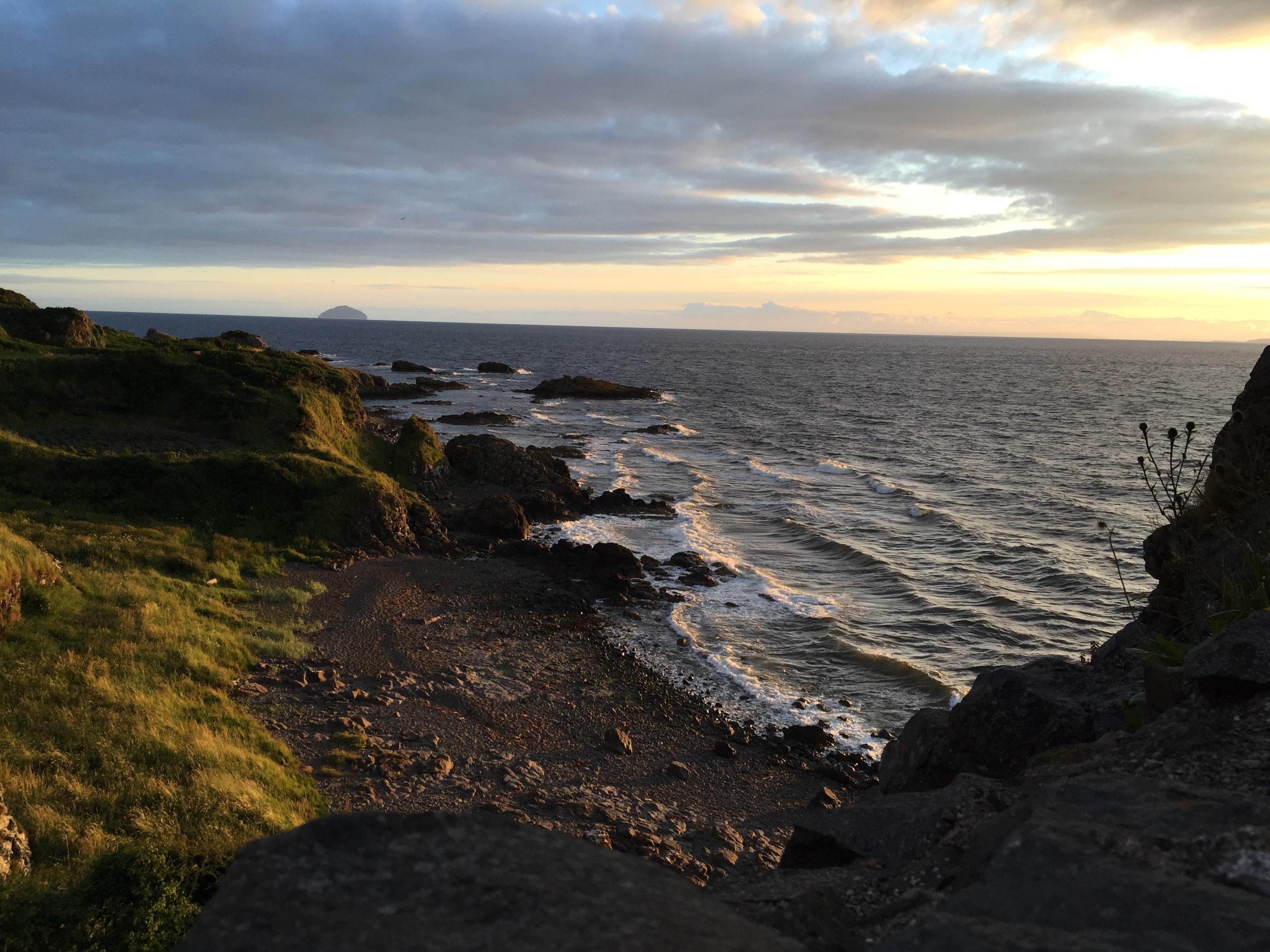 Dunure Coast Scotland Hd Wallpaper