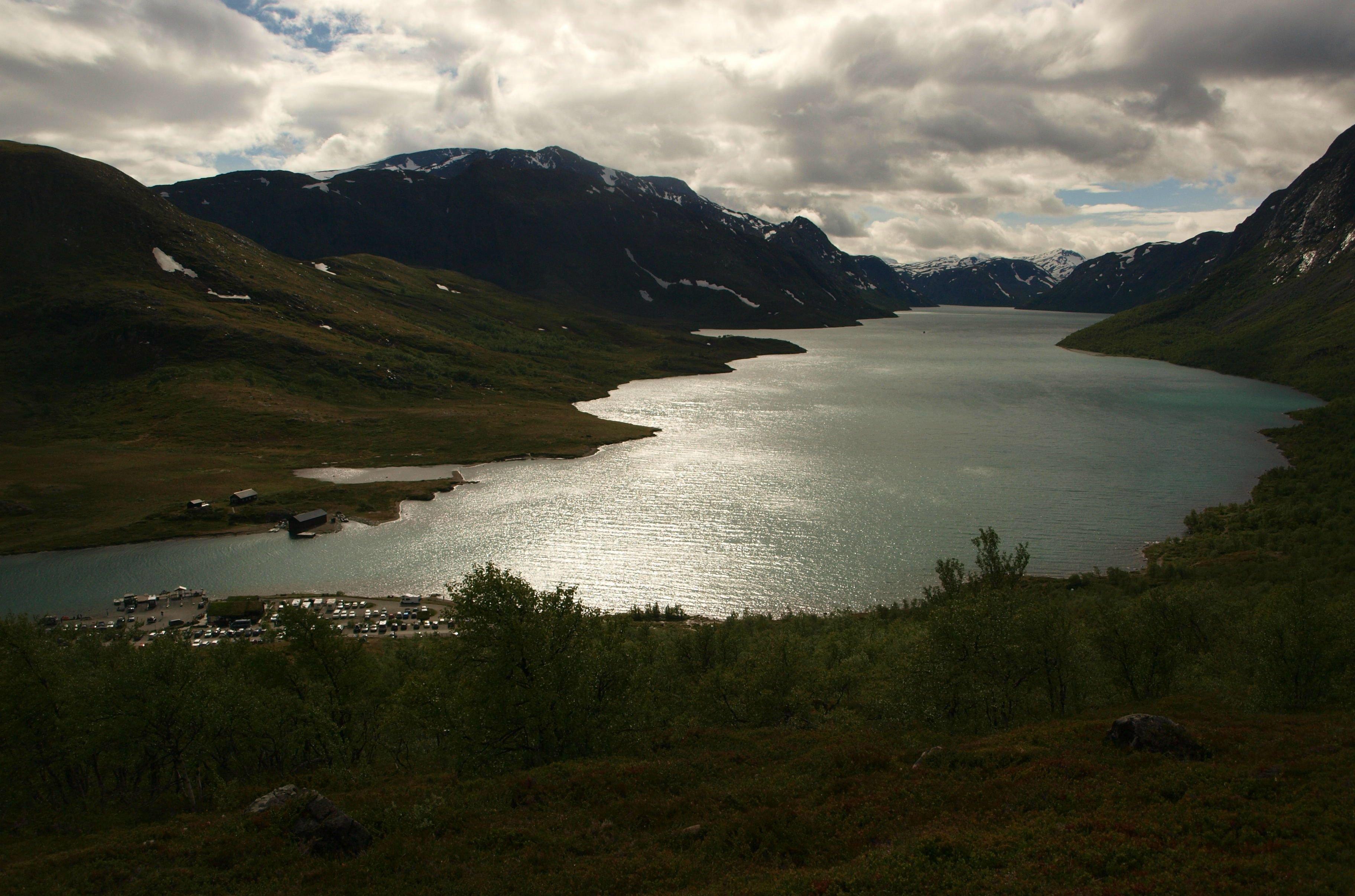 Lake Gjende Jotunheimen National Park Norway Hd Wallpaper