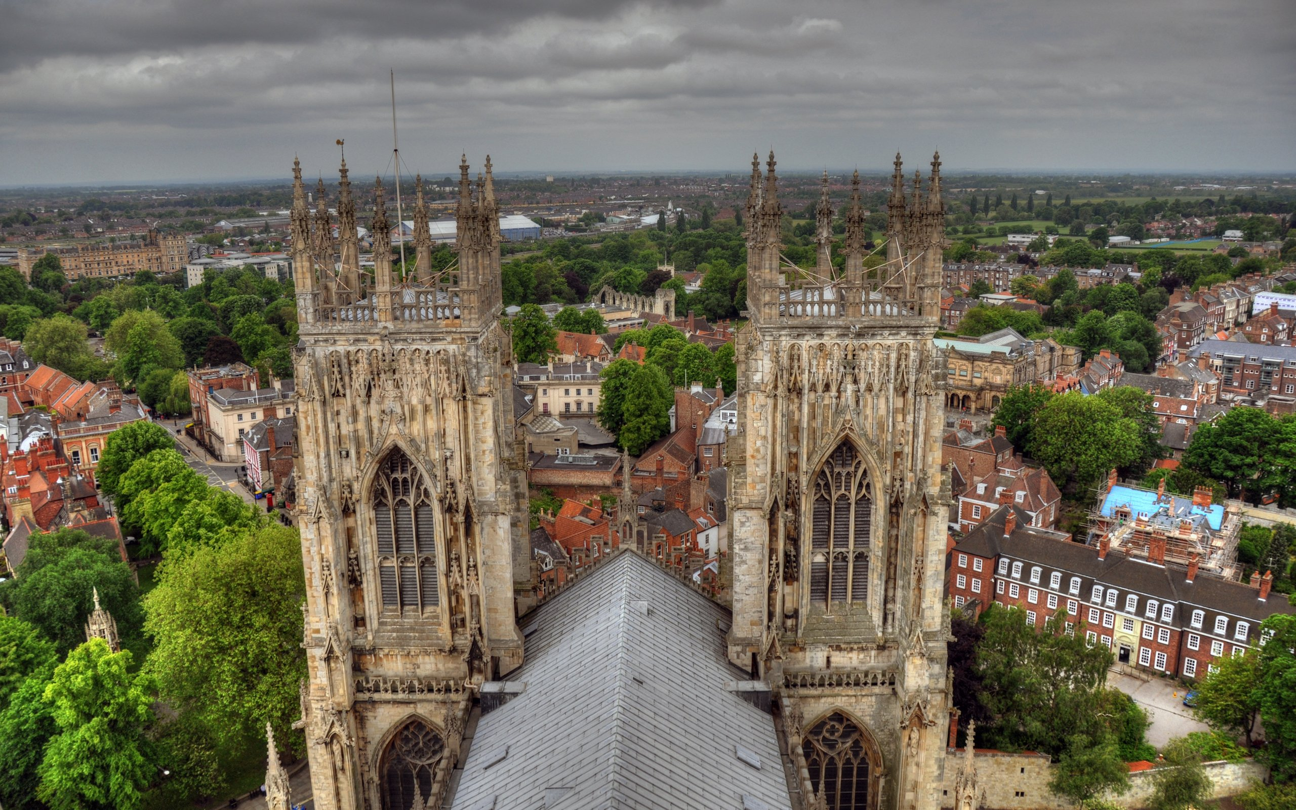 view from york minster england hd wallpaper