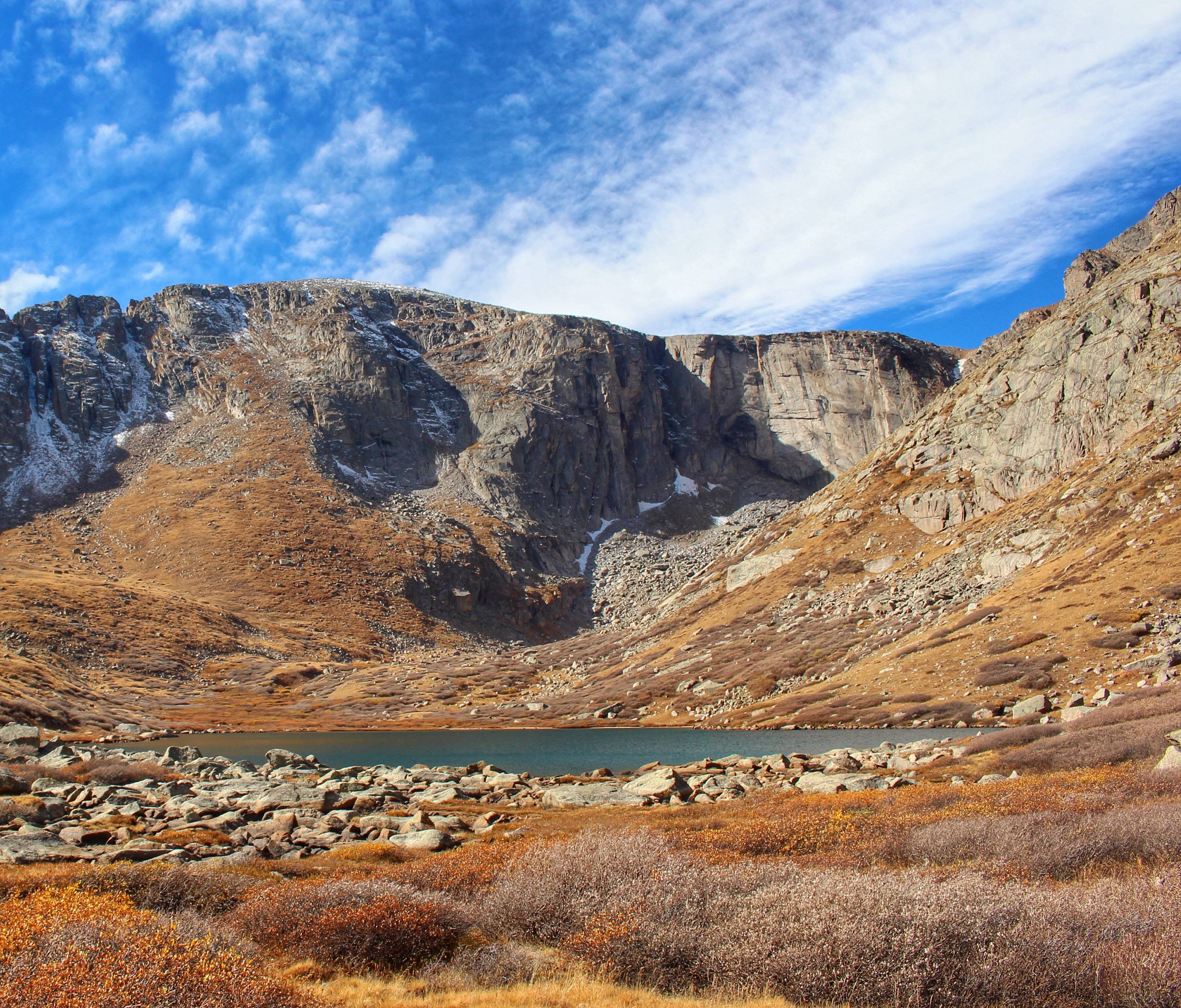 A Cool Crisp Late-autumn Day at Chicago Lakes in Colorado USA wallpaper
