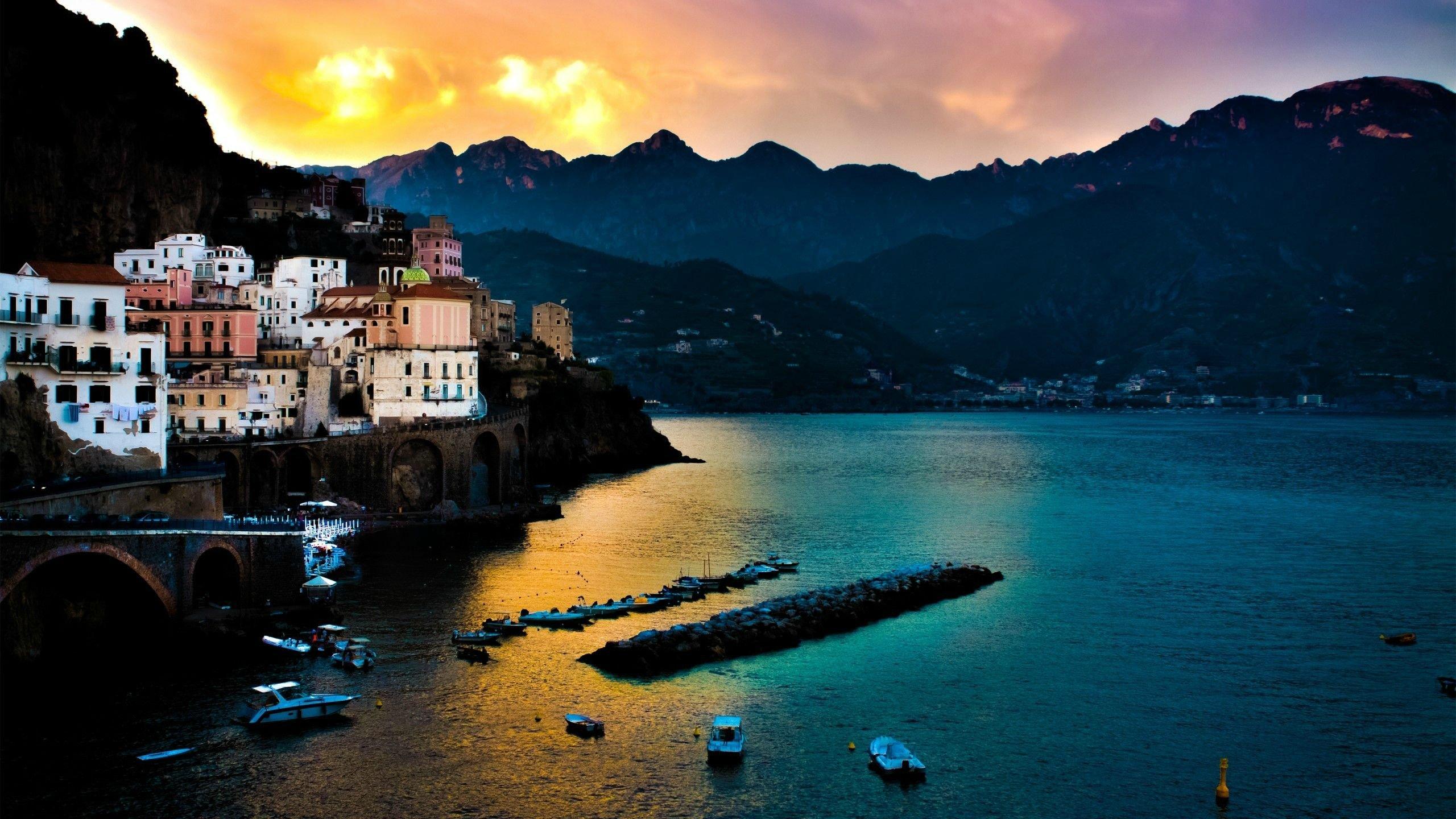 Amalfi coast landscape hd wallpaper - Italy screensaver ...