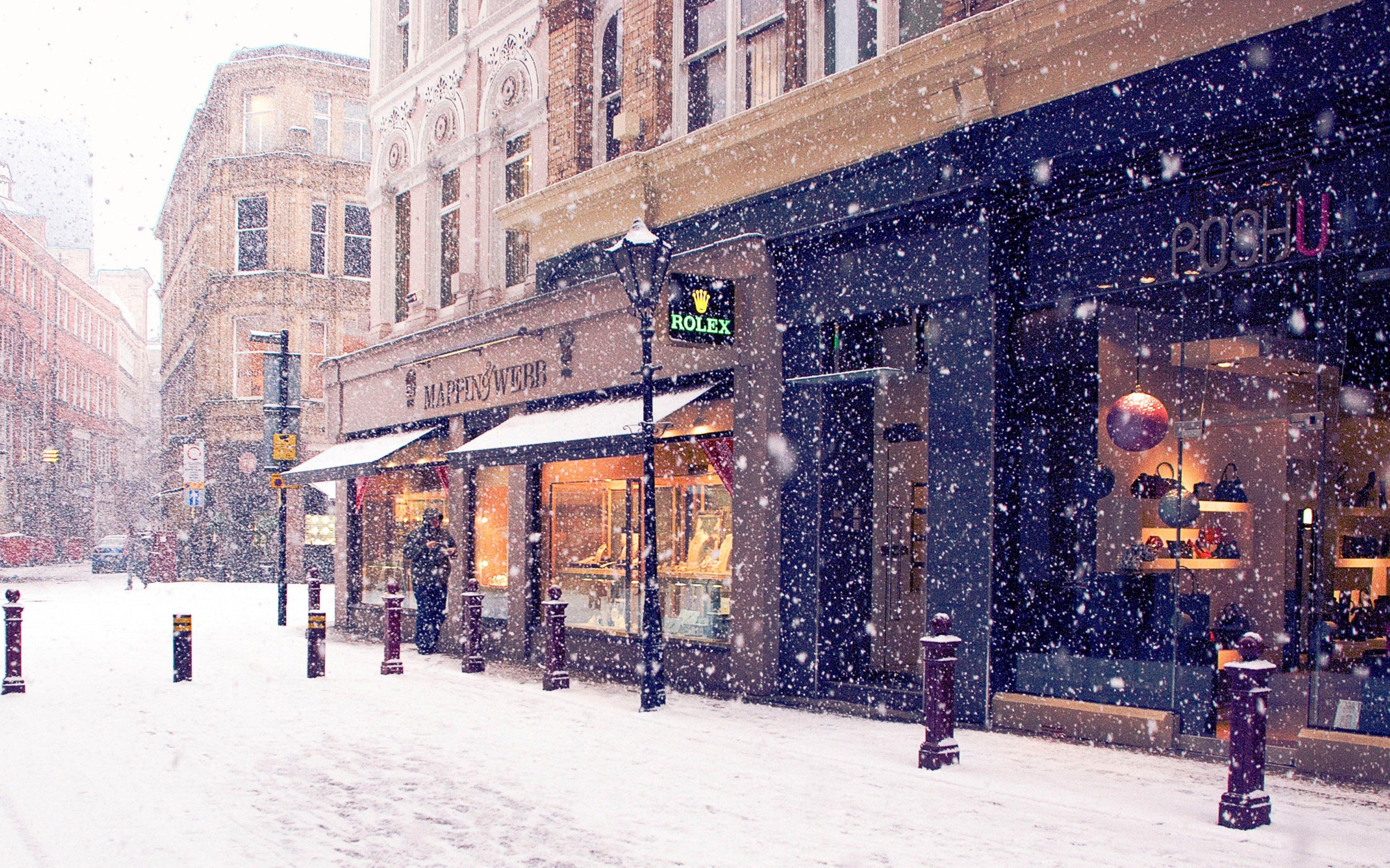 Snow City 17512 4k Wallpaper