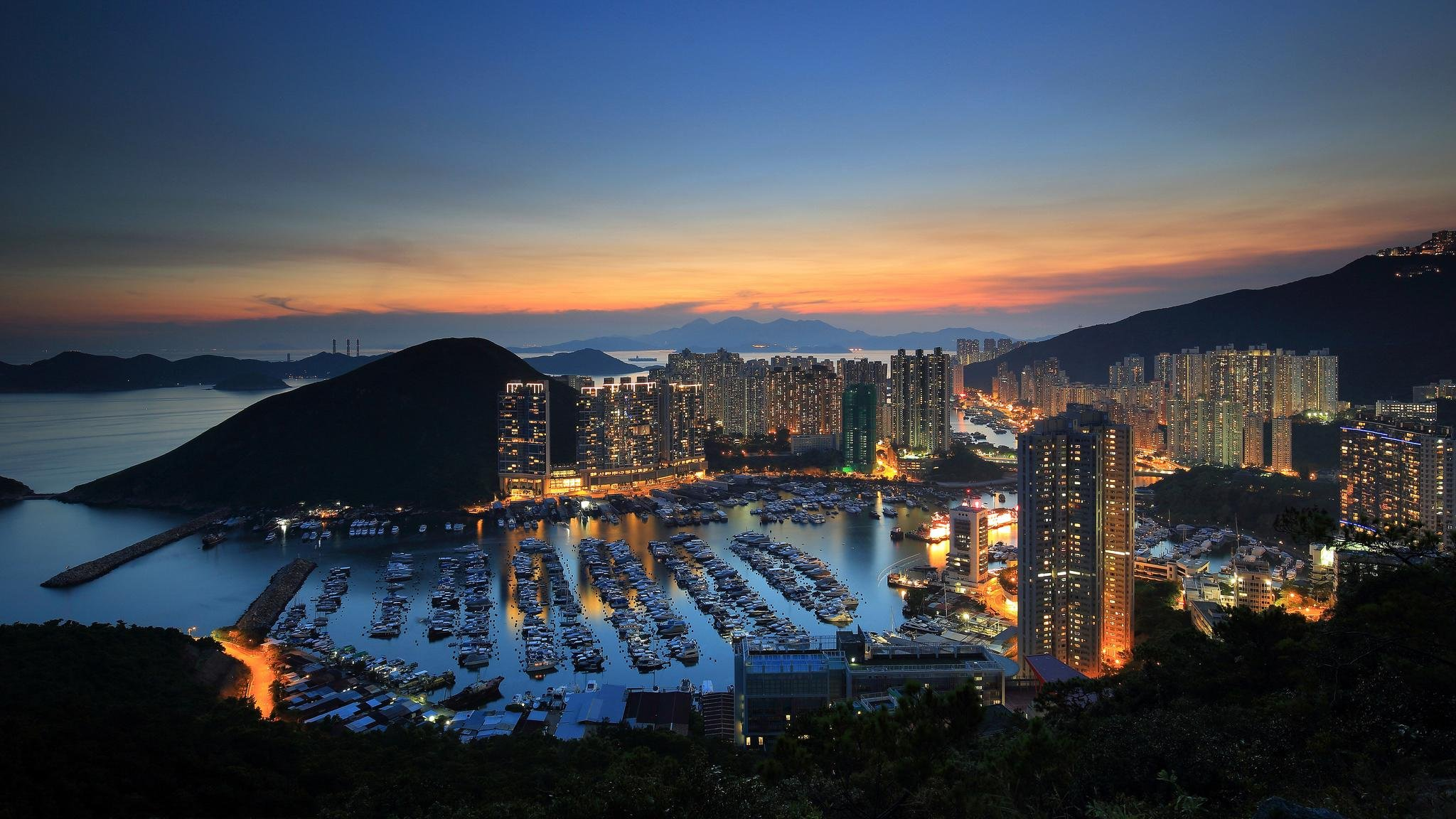 Aberdeen Hong Kong HD wallpaper