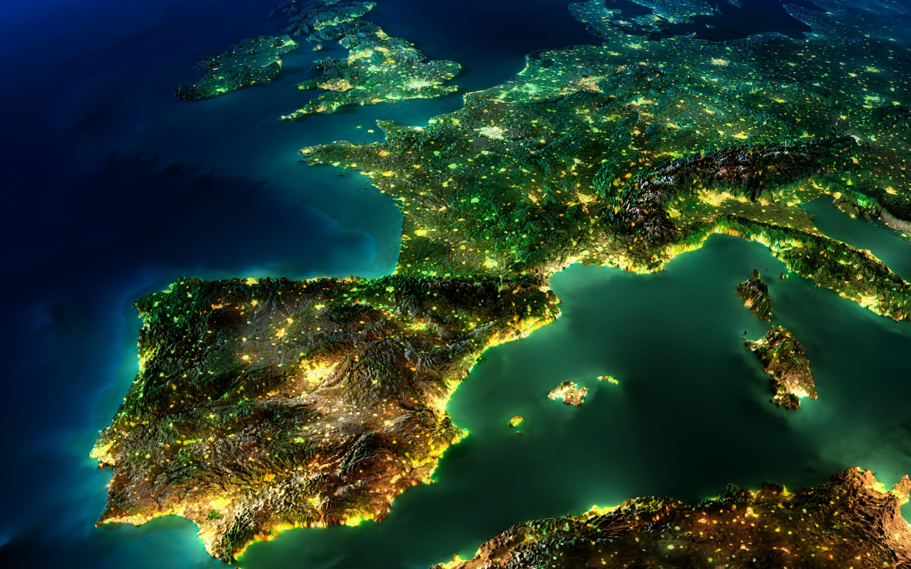 europe by light and flight wallpaper