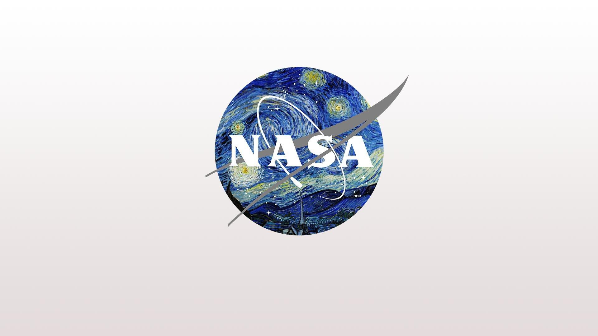 NASA Logo X Starry Night HD wallpaper