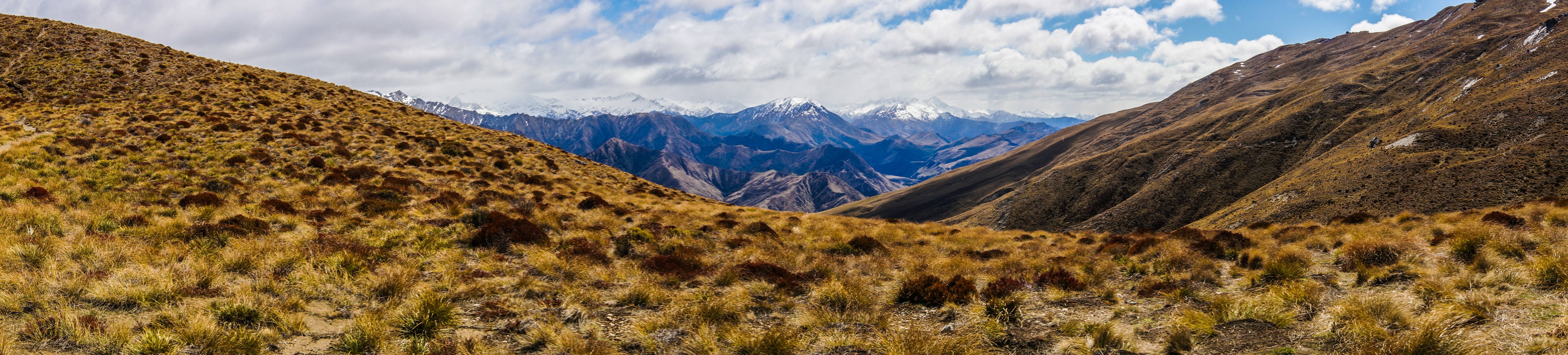 Southern Alps From Ben Lomonds Saddle Queenstown NZ wallpaper