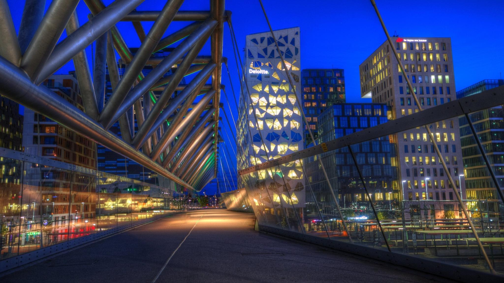Blue Hour In Oslo Norway Hd Wallpaper