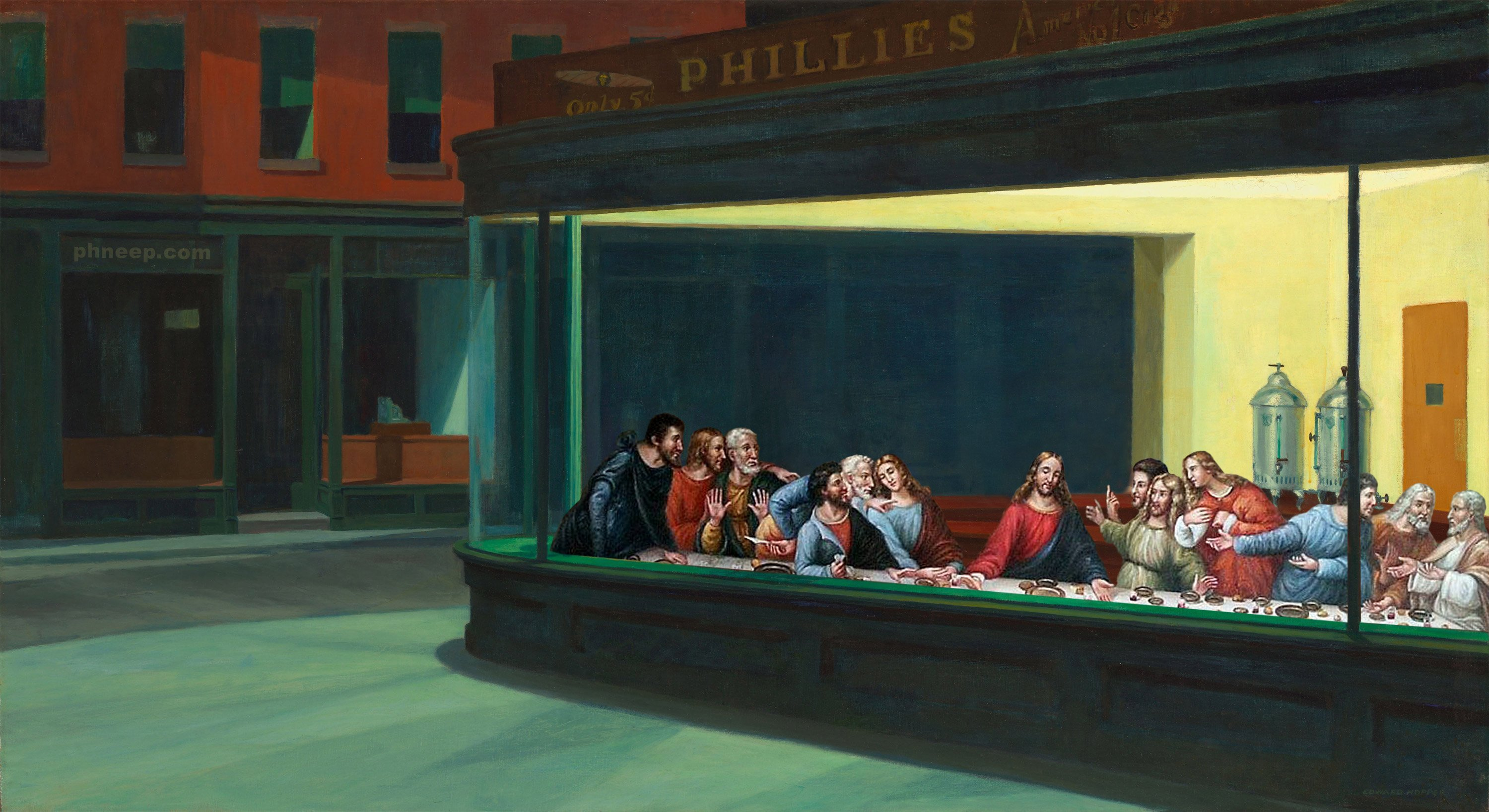 Nighthawks Last Supper wallpaper