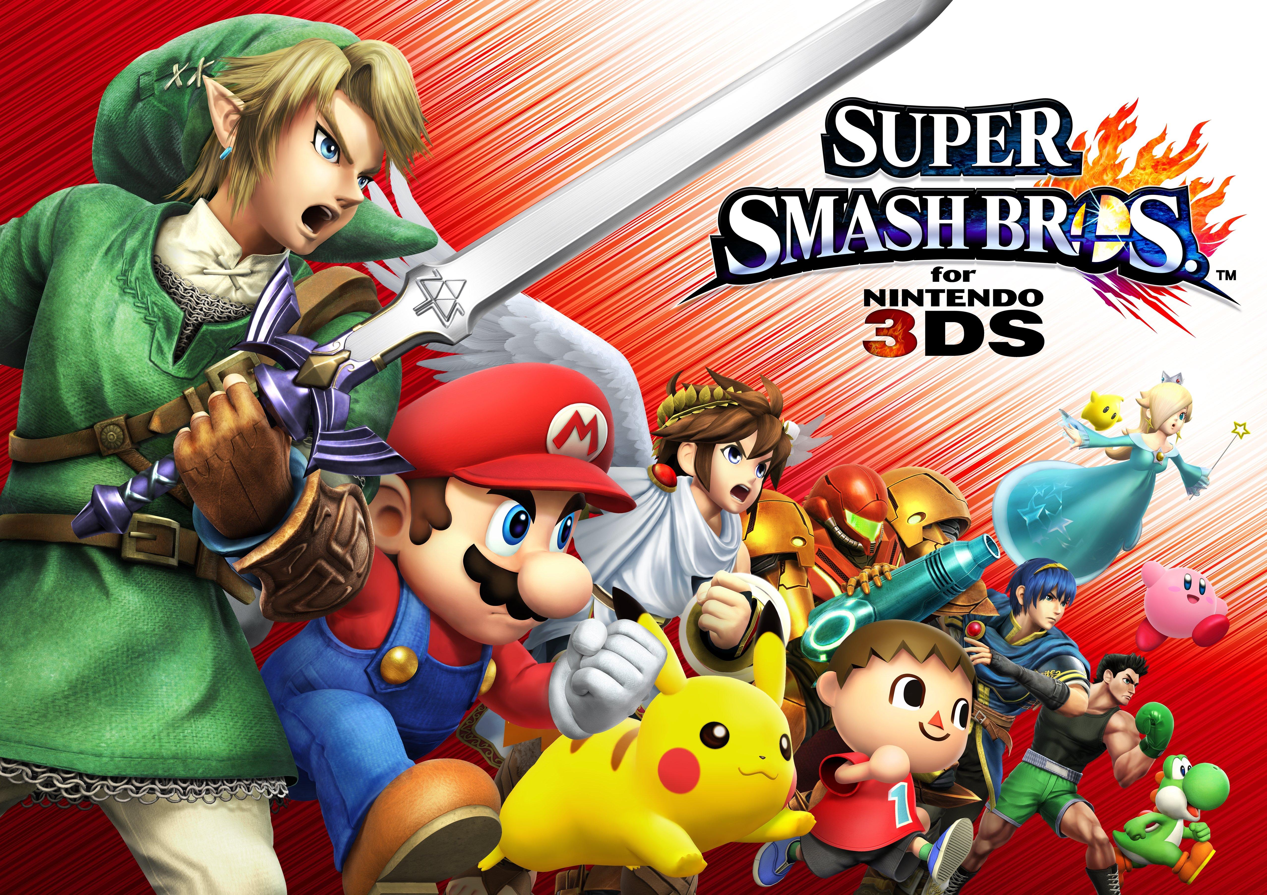 Super Smash Bros For Nintendo 3ds 4k Wallpaper