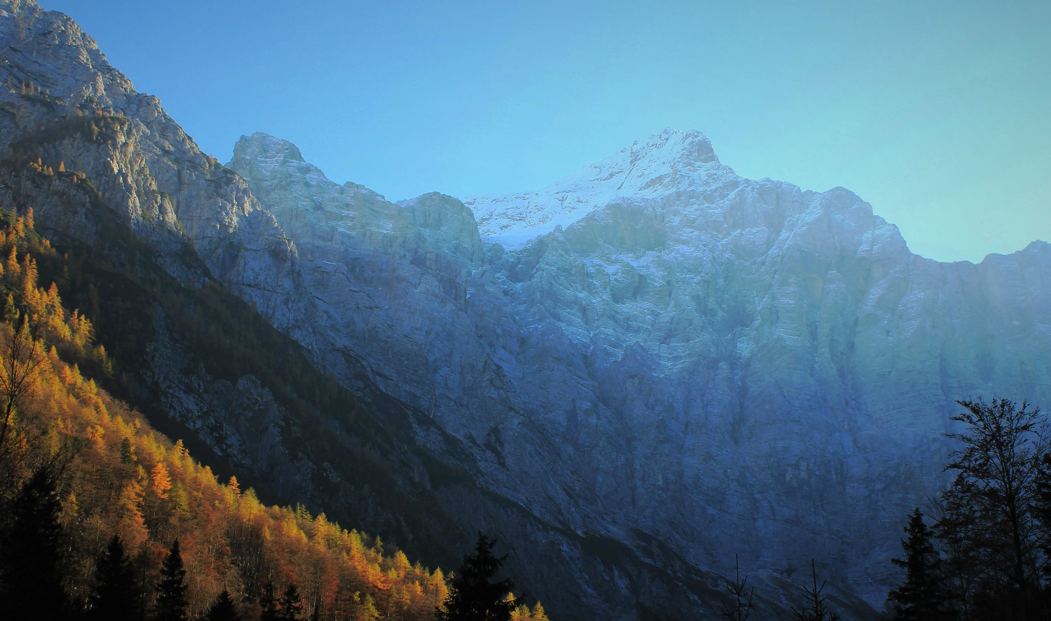 The Large North Face of Triglav the Highest Mountain in the Julian Alps wallpaper