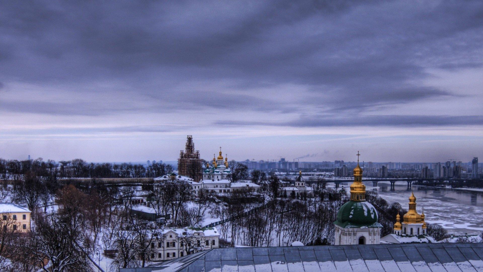 City In The Winter Hd Wallpaper