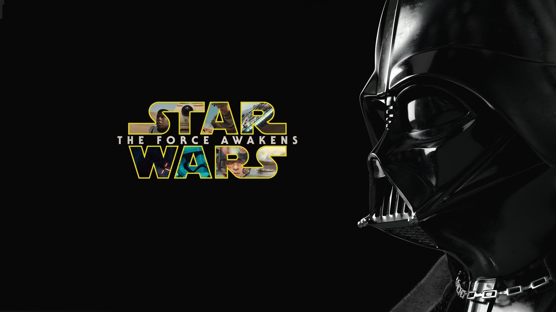 Darth Vader With Star Wars Force Awakens Hd Wallpaper