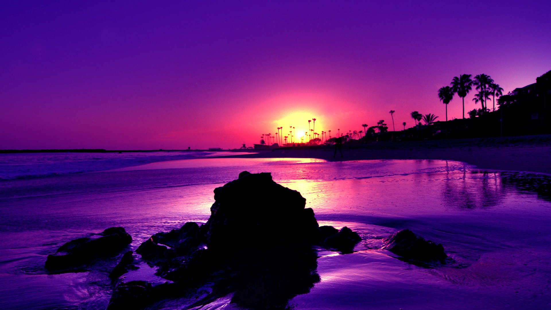 Gorgeous Purple Sunset Hd Wallpaper