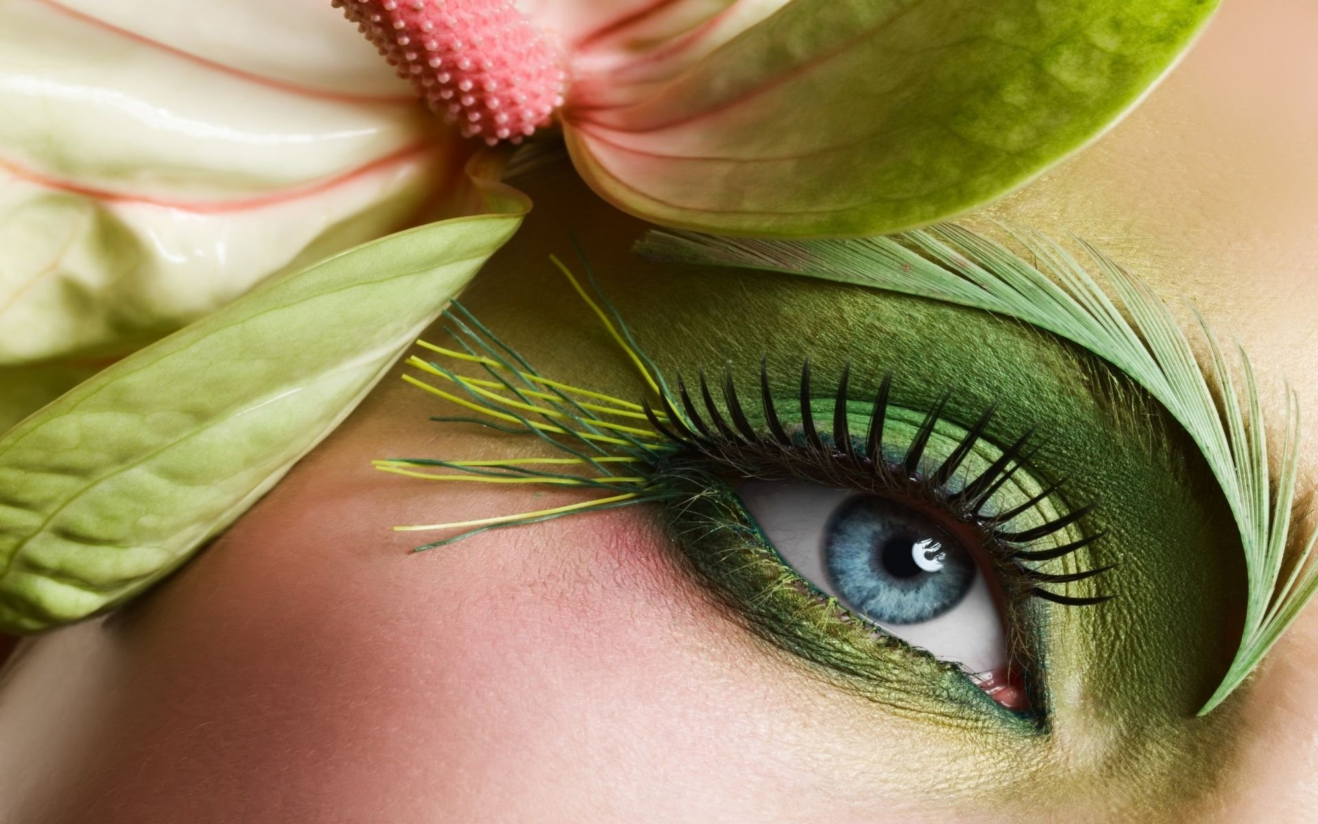 Green Eye Makeup Hd Wallpaper