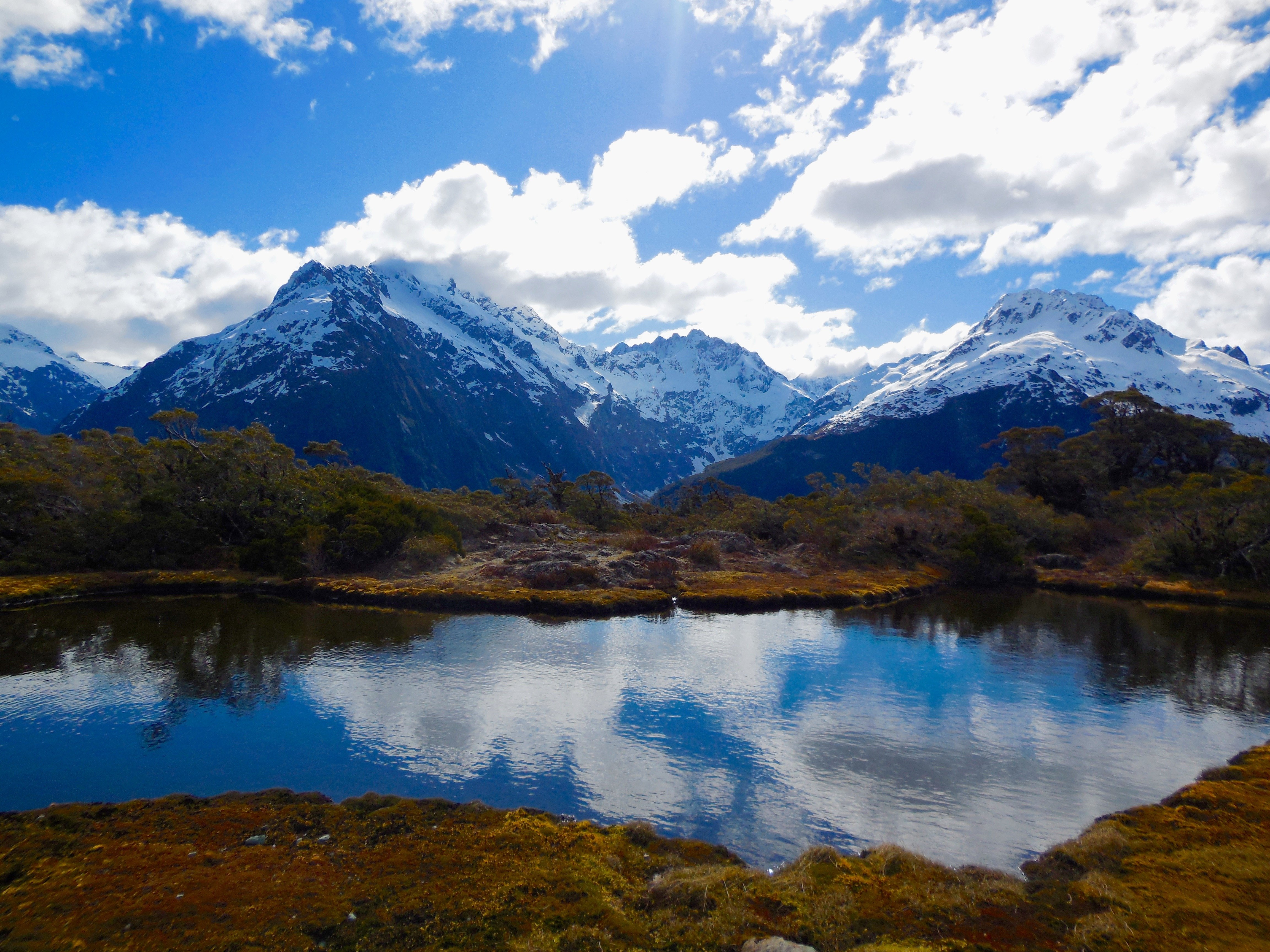 Key Summit Near Milford Sound in New Zealands Southern Alps wallpaper