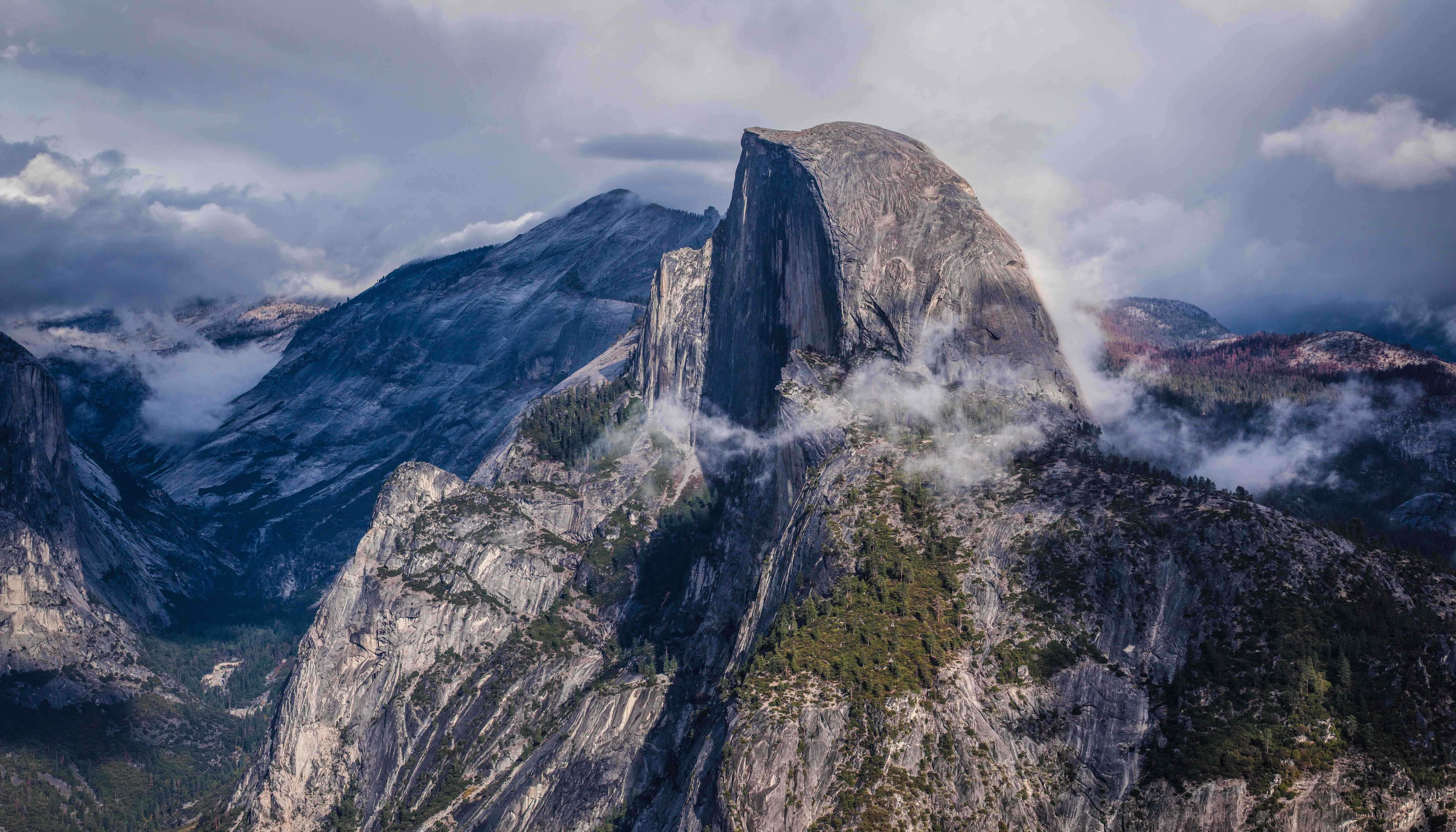 after the storm passes half dome yosemite wallpaper