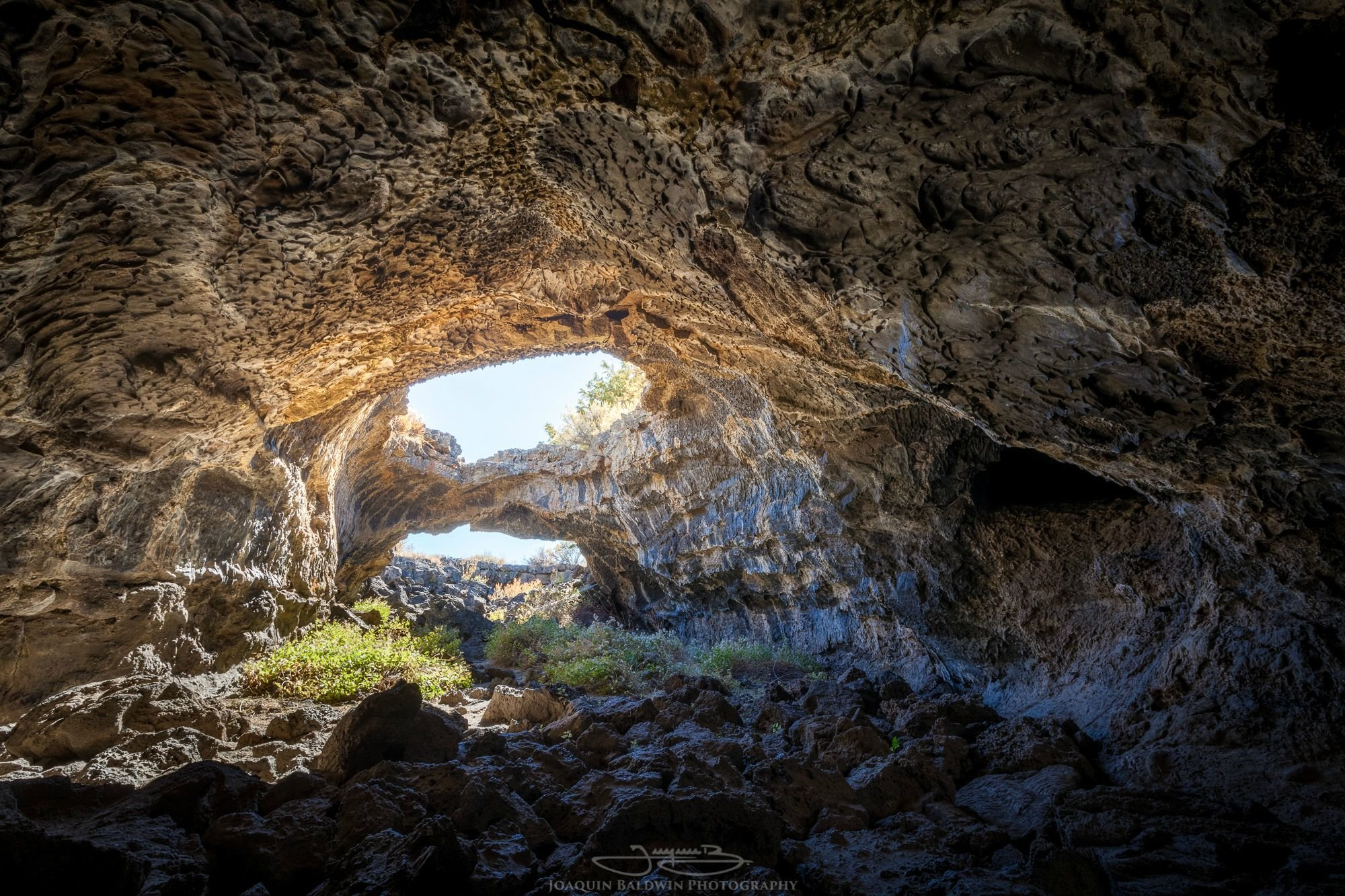 Natural Bridge From Inside a Cave in Lava Beds National Monument CA wallpaper