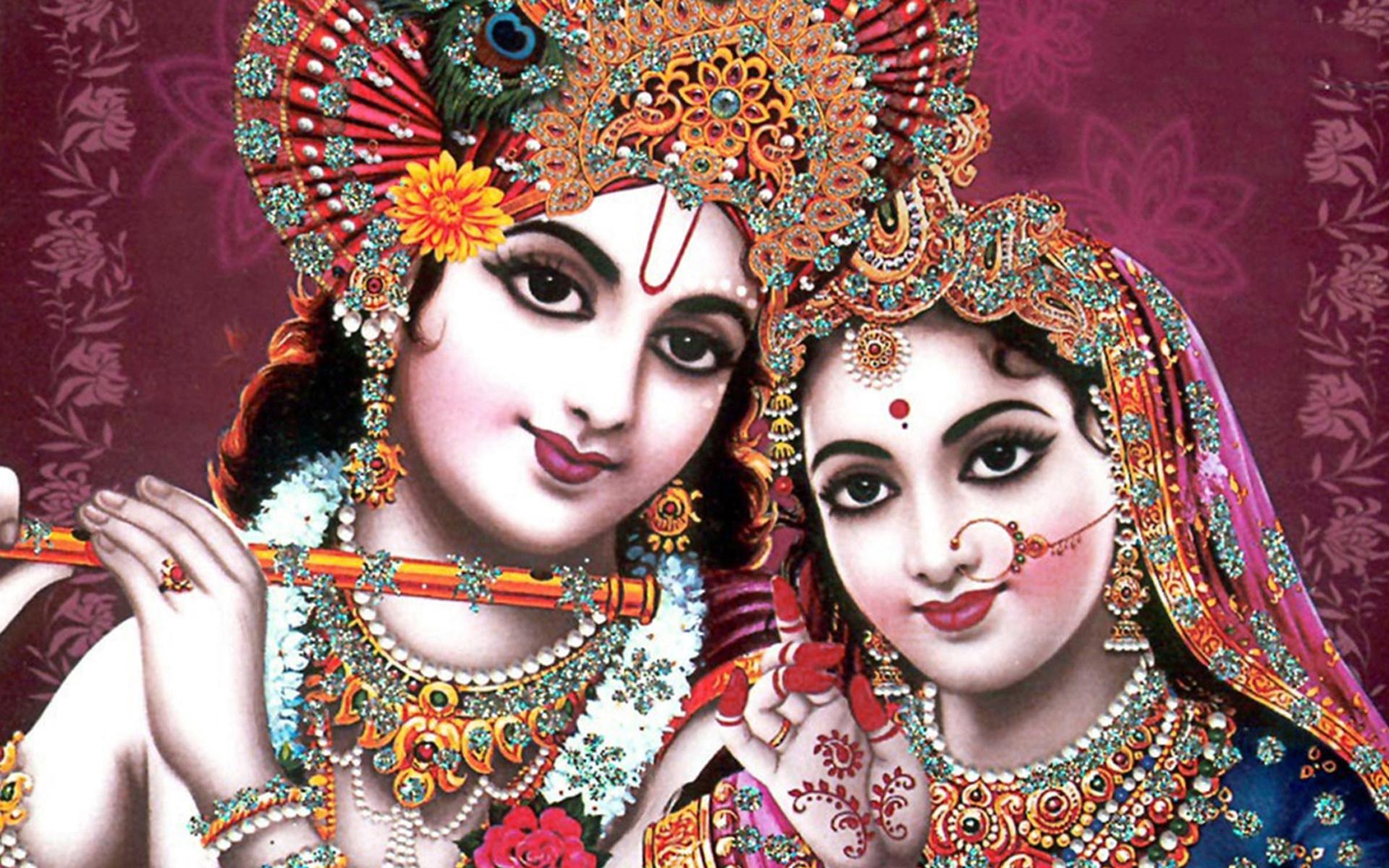 indian god radha krishna wallpaper