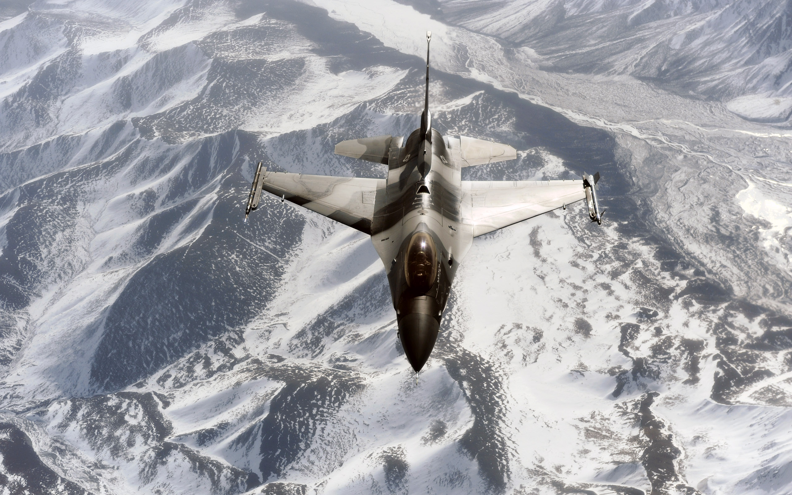 F Aggressor Over the Joint Pacific Alaskan Range wallpaper