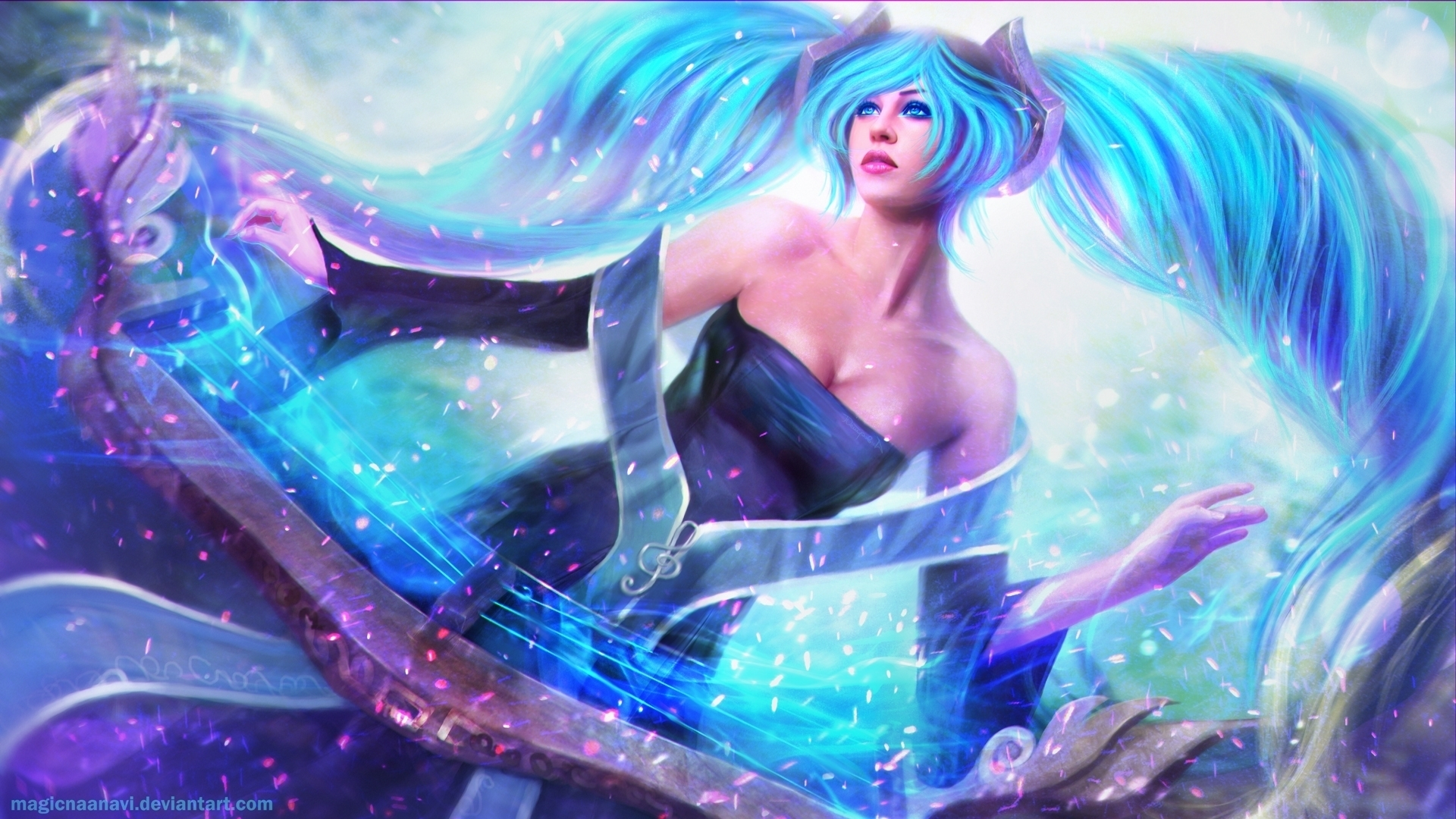 Sona League Of Legends Hd Wallpaper