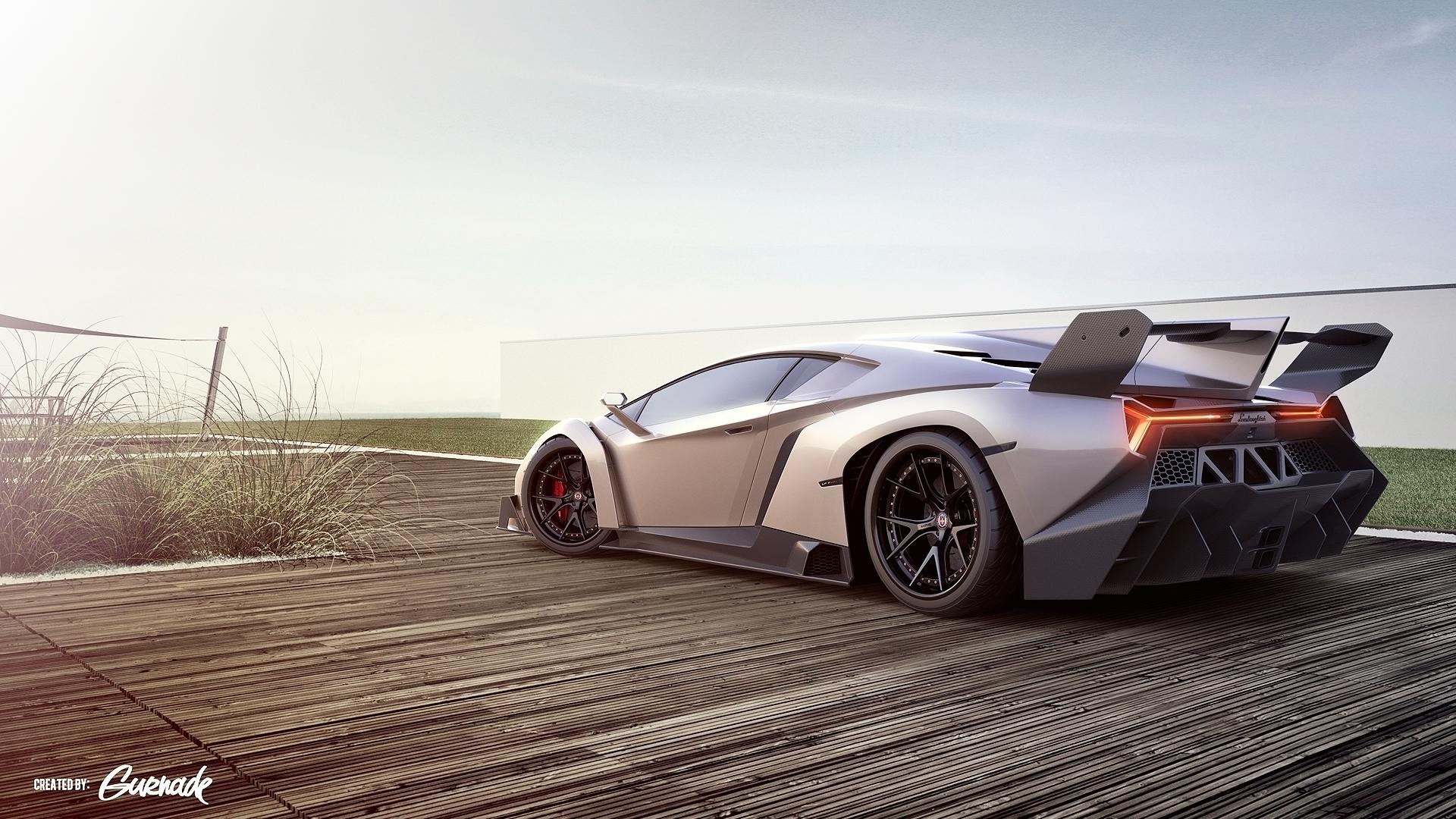Lamborghini Veneno Sports Car Hd Wallpaper
