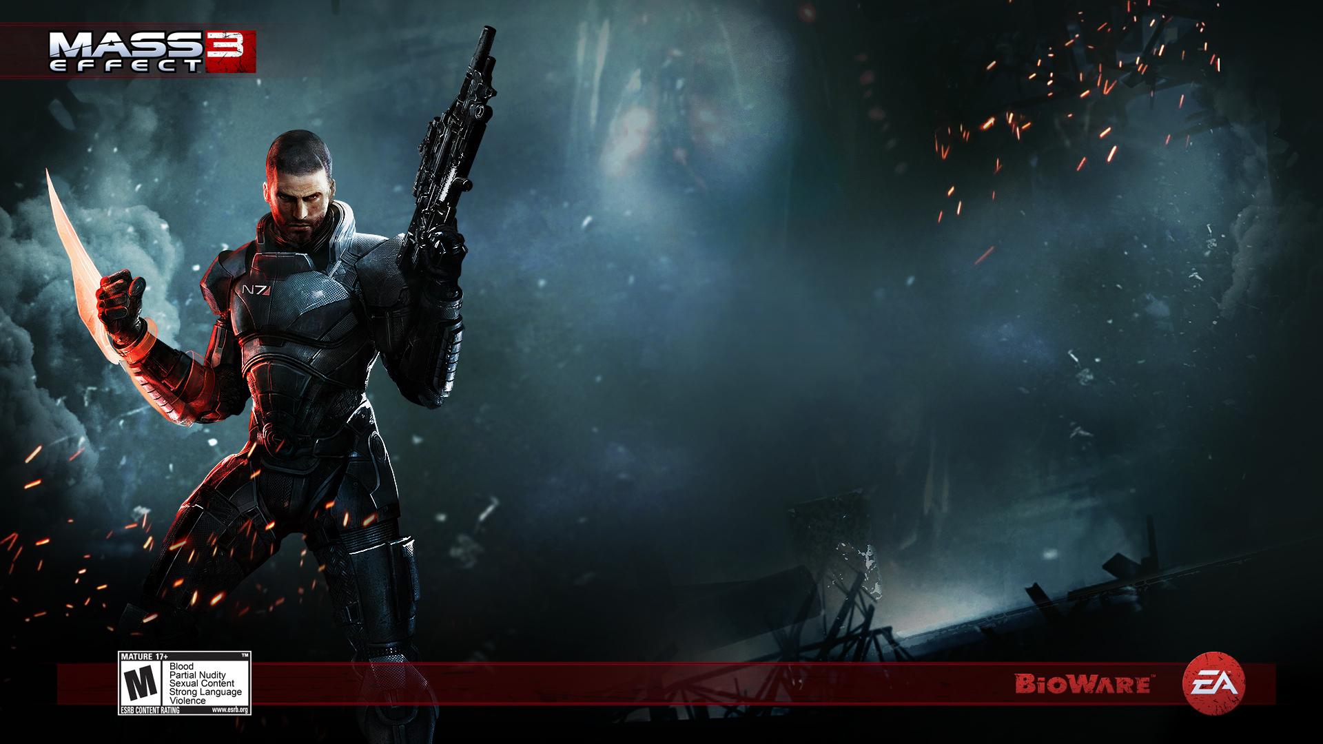 Action Game Mass Effect 3 Hd Wallpaper