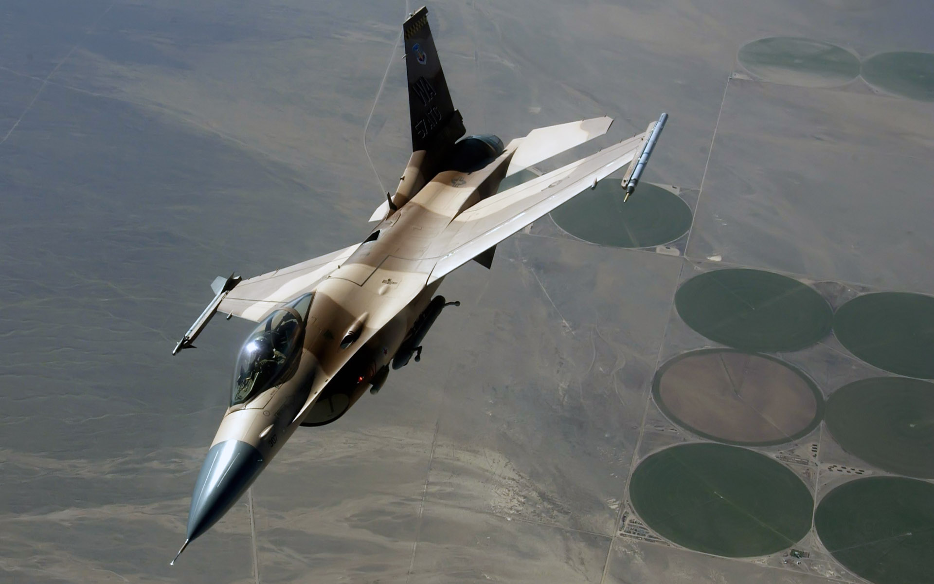 An F Fighting Falcon During a Red Flag Exercise wallpaper